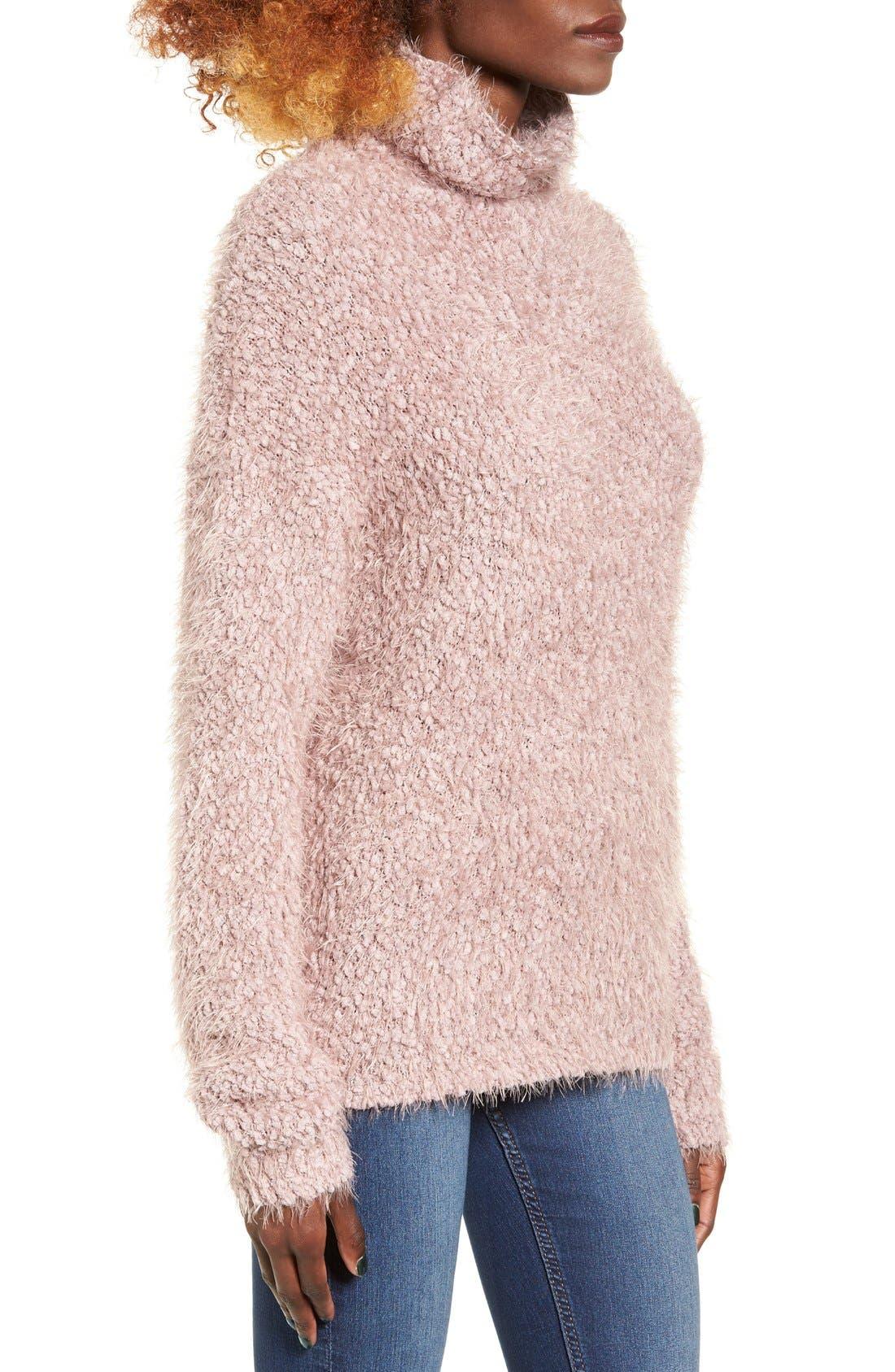 Alternate Image 3  - BP. Fluffy Knit Mock Neck Pullover