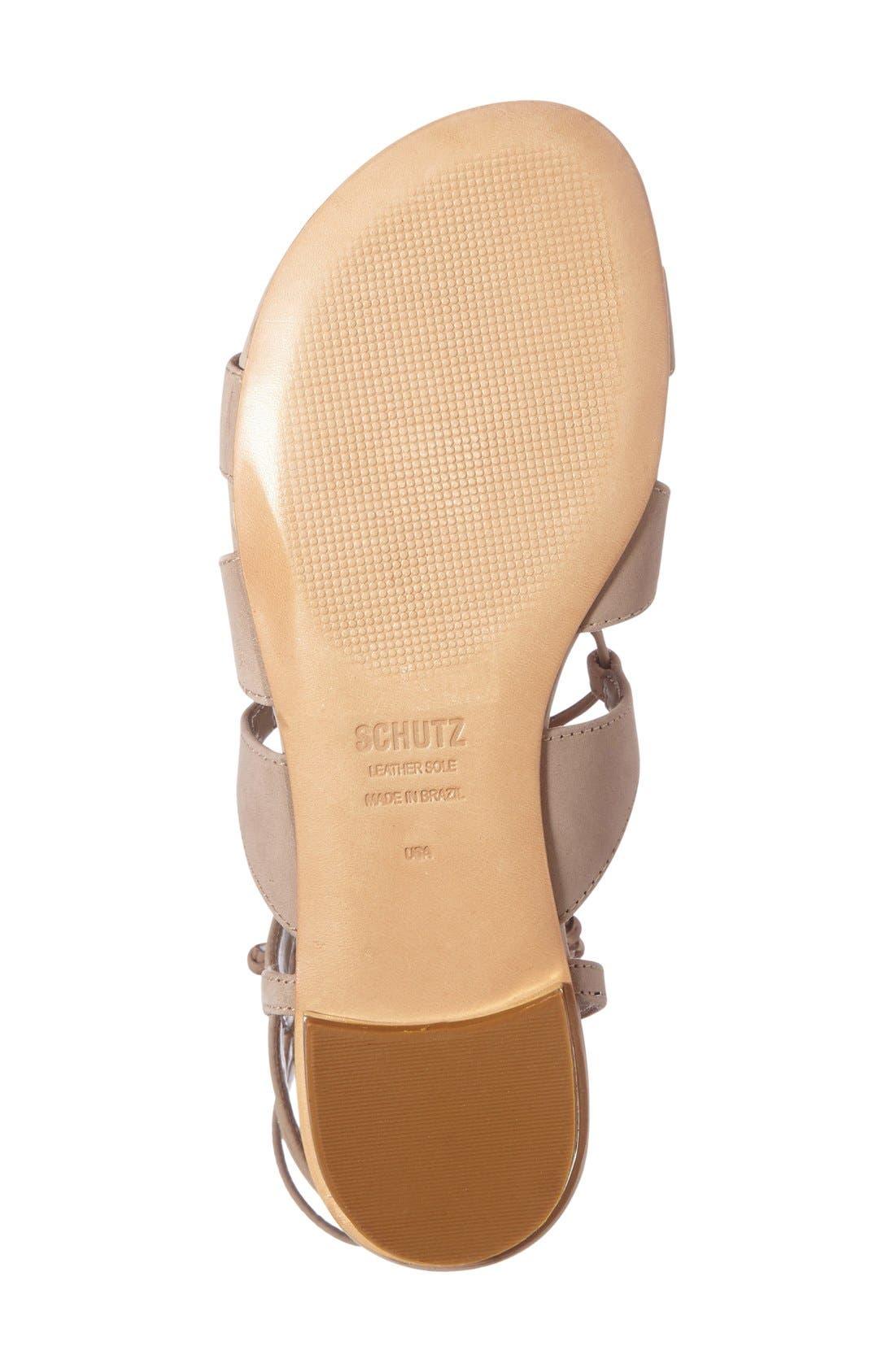 Alternate Image 4  - Schutz Erlina Lace-Up Sandal (Women)