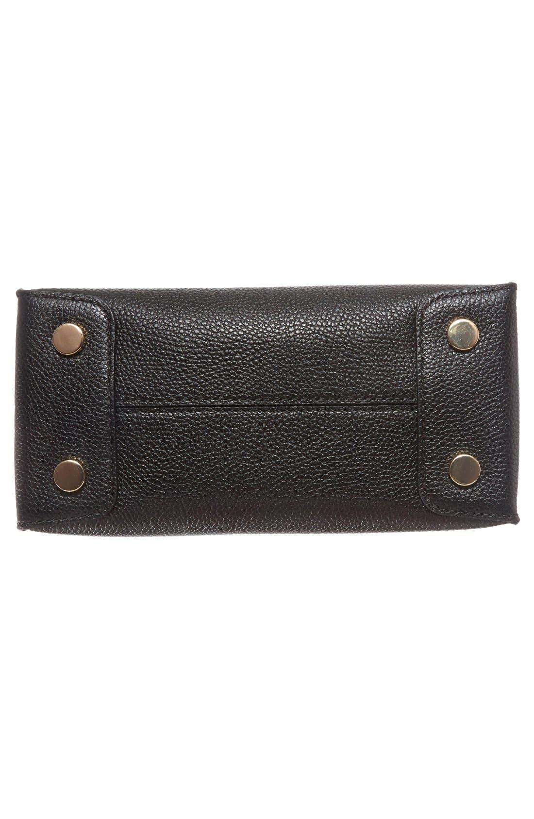 Mercer Leather Crossbody Bag,                             Alternate thumbnail 6, color,                             Black/ Gold
