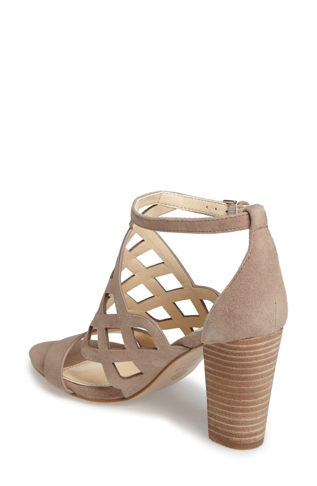 Alternate Image 2  - Isolá Despina Cutout Ankle Strap Sandal (Women)