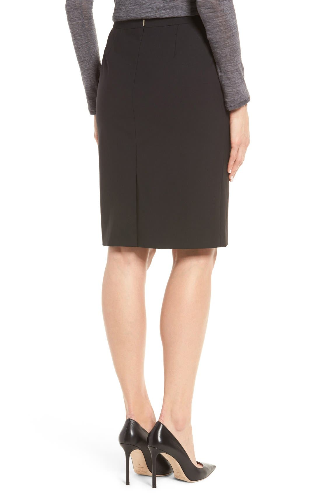 Alternate Image 3  - BOSS Vilea Stretch Wool Pencil Skirt (Regular & Petite)