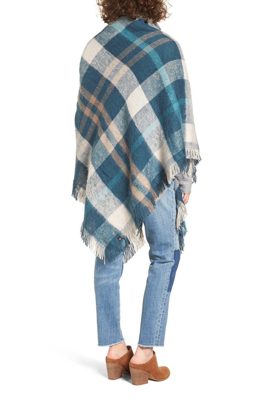 Alternate Image 2  - Treasure&Bond Plaid Blanket Wrap