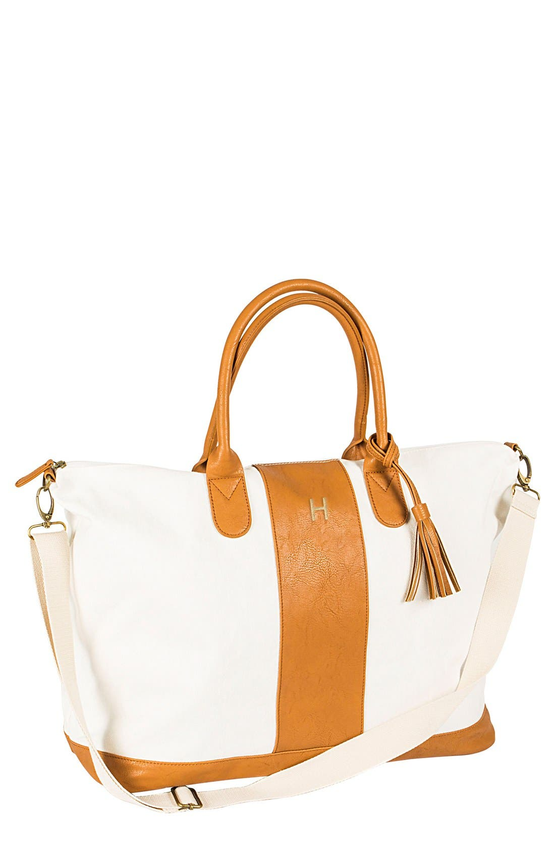 CATHYS CONCEPTS Monogram Faux Leather Tote