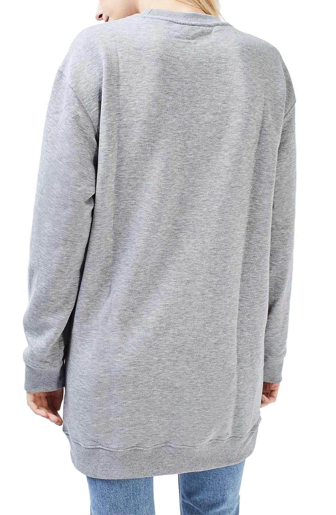 Alternate Image 3  - Topshop Sweatshirt Tunic