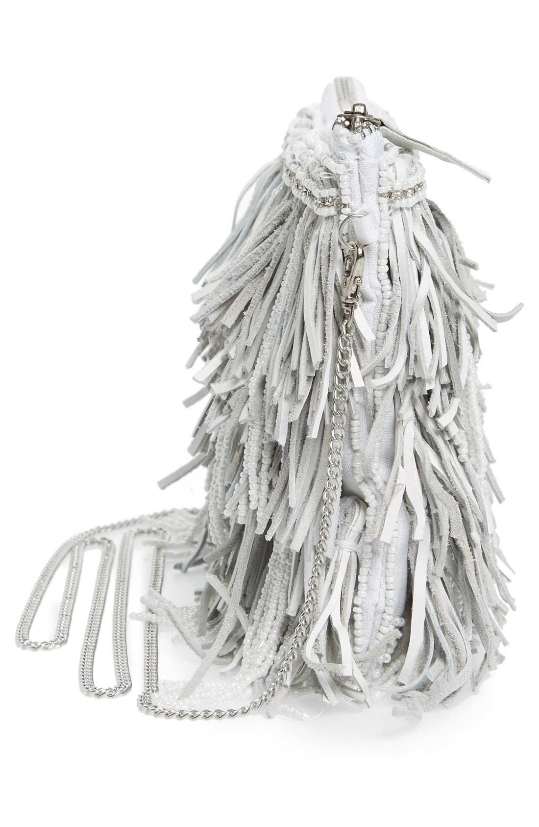 Alternate Image 5  - G-lish Bead & Leather Fringe Crossbody Bag