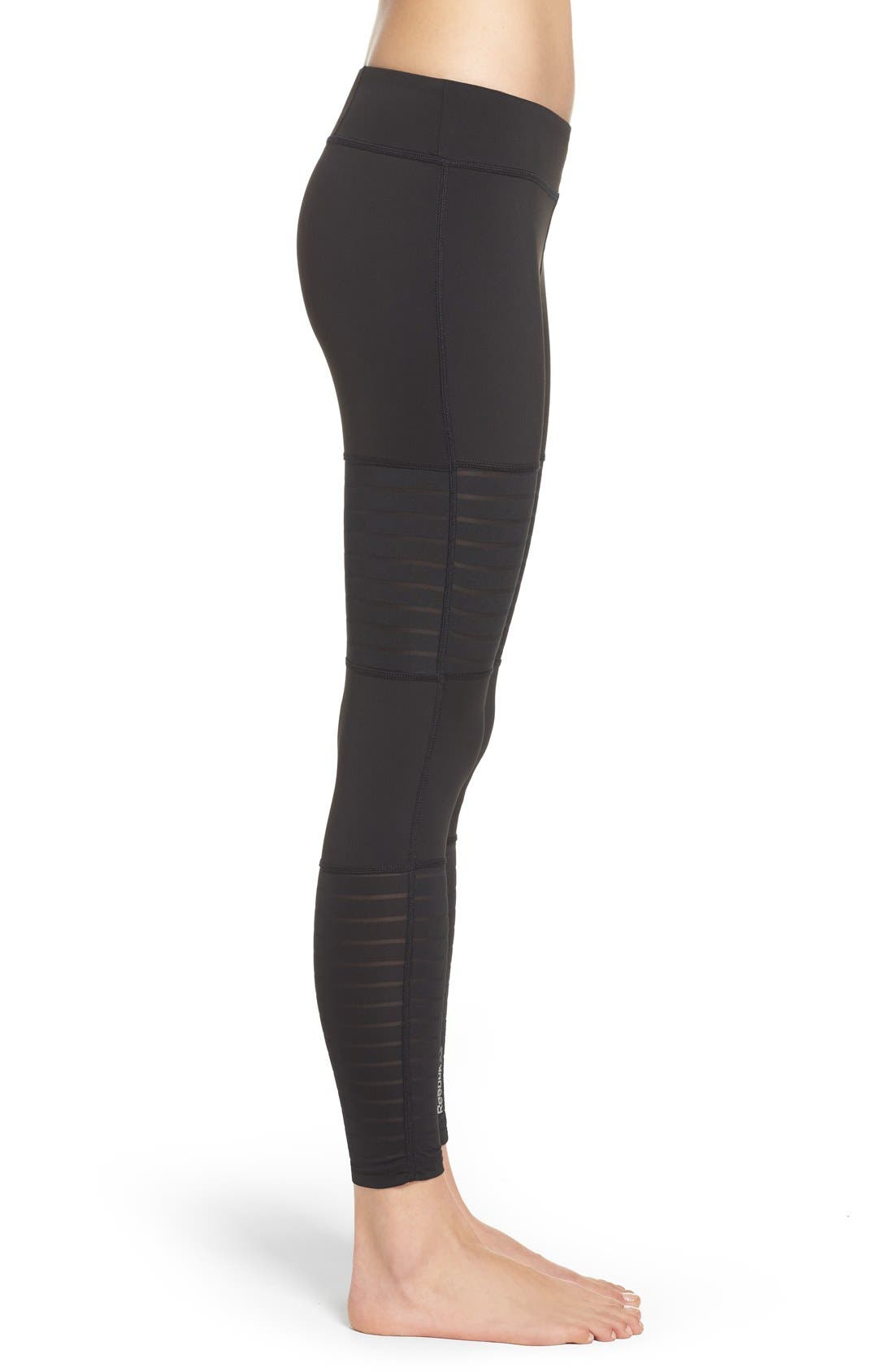 Alternate Image 3  - Reebok Dance Mesh Leggings