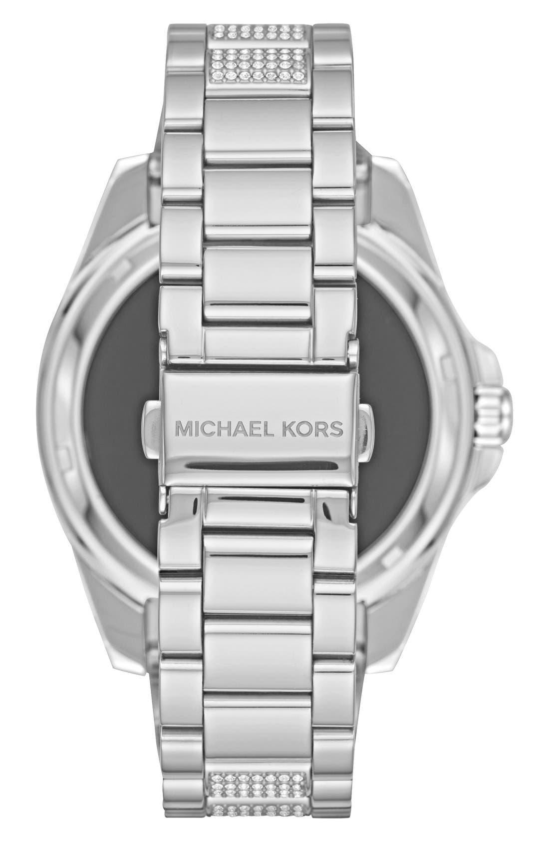 MICHAEL Michael Kors Bradshaw Access Bracelet Smart Watch, 45mm,                             Alternate thumbnail 2, color,                             Silver