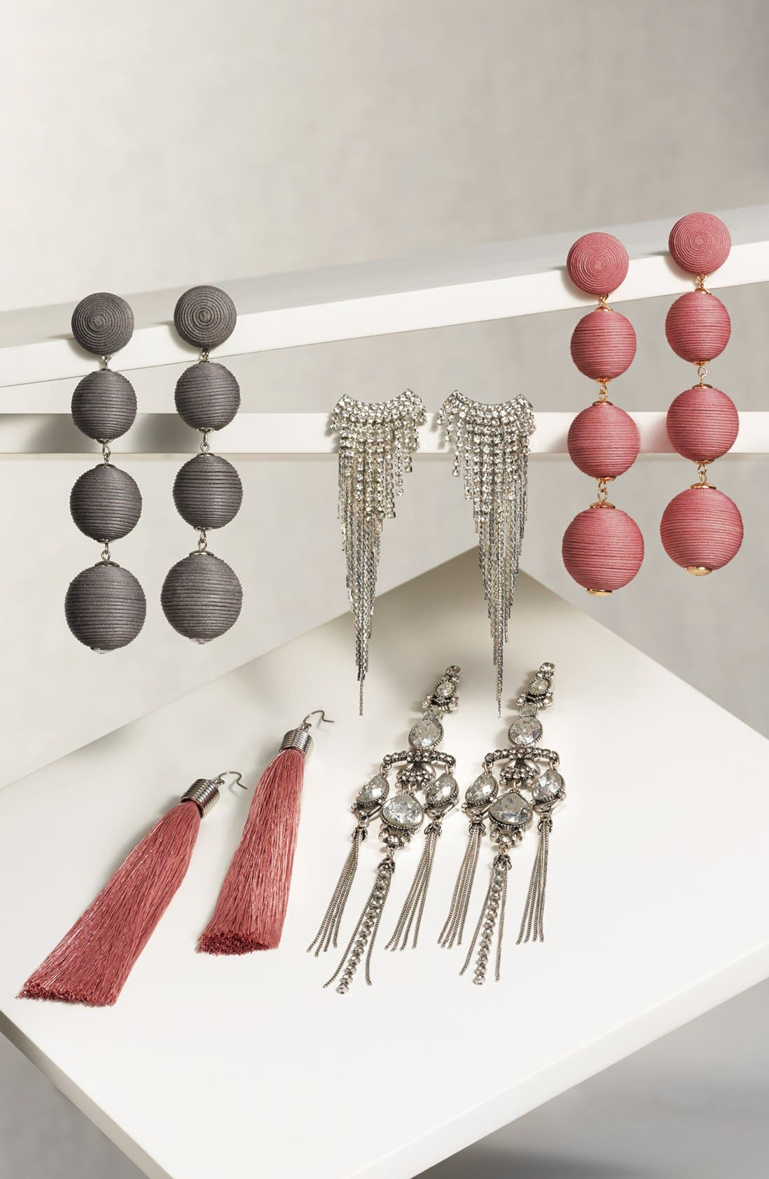 Tassel Drop Earrings,                             Alternate thumbnail 3, color,                             Pink