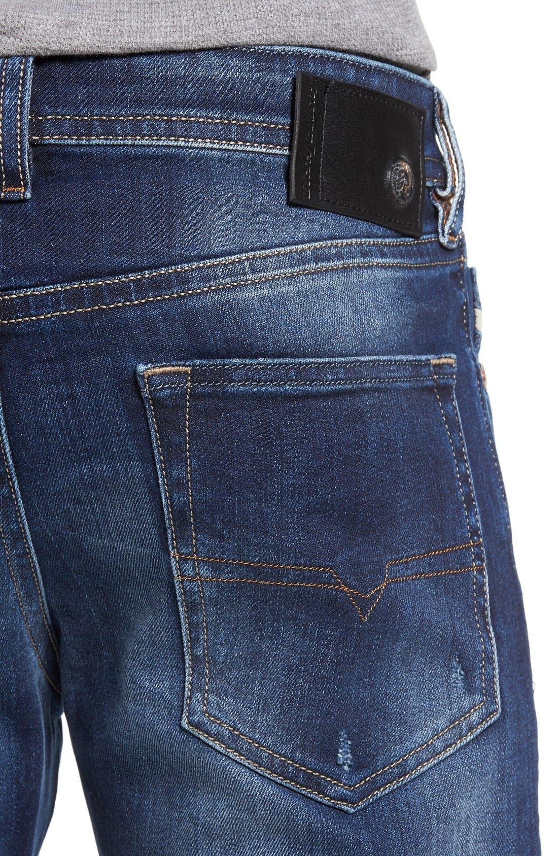 Alternate Image 4  - DIESEL® Buster Slim Straight Leg Jeans (860L)