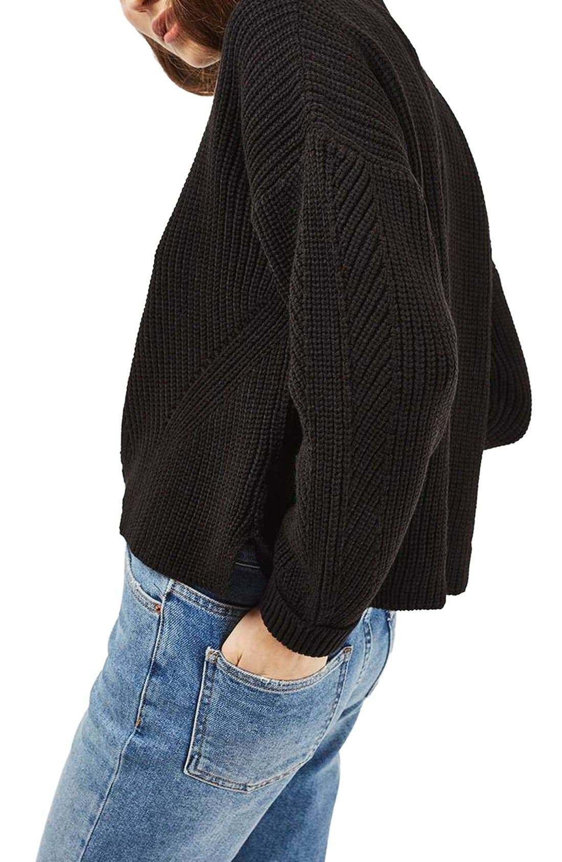 Alternate Image 3  - Topshop Ribbed Sweater