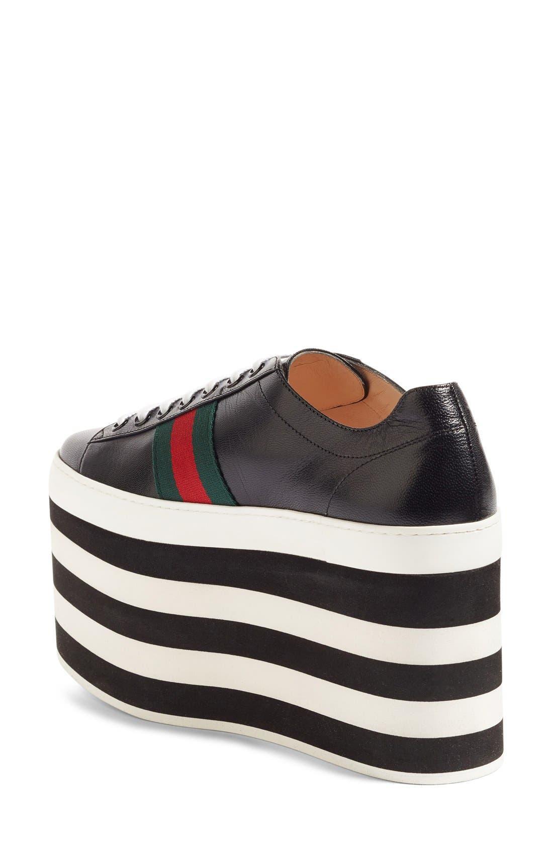 Alternate Image 2  - Gucci Peggy Platform Sneaker (Women)