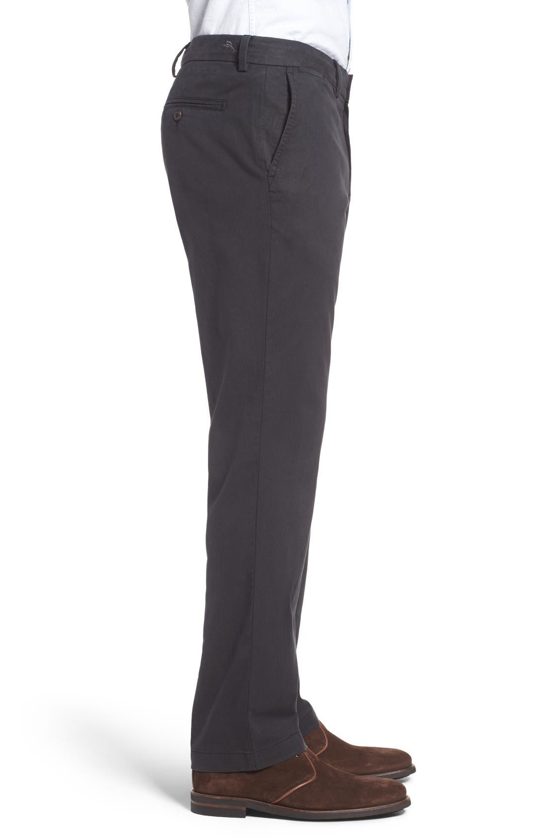 Offshore Flat Front Pants,                             Alternate thumbnail 3, color,                             Black