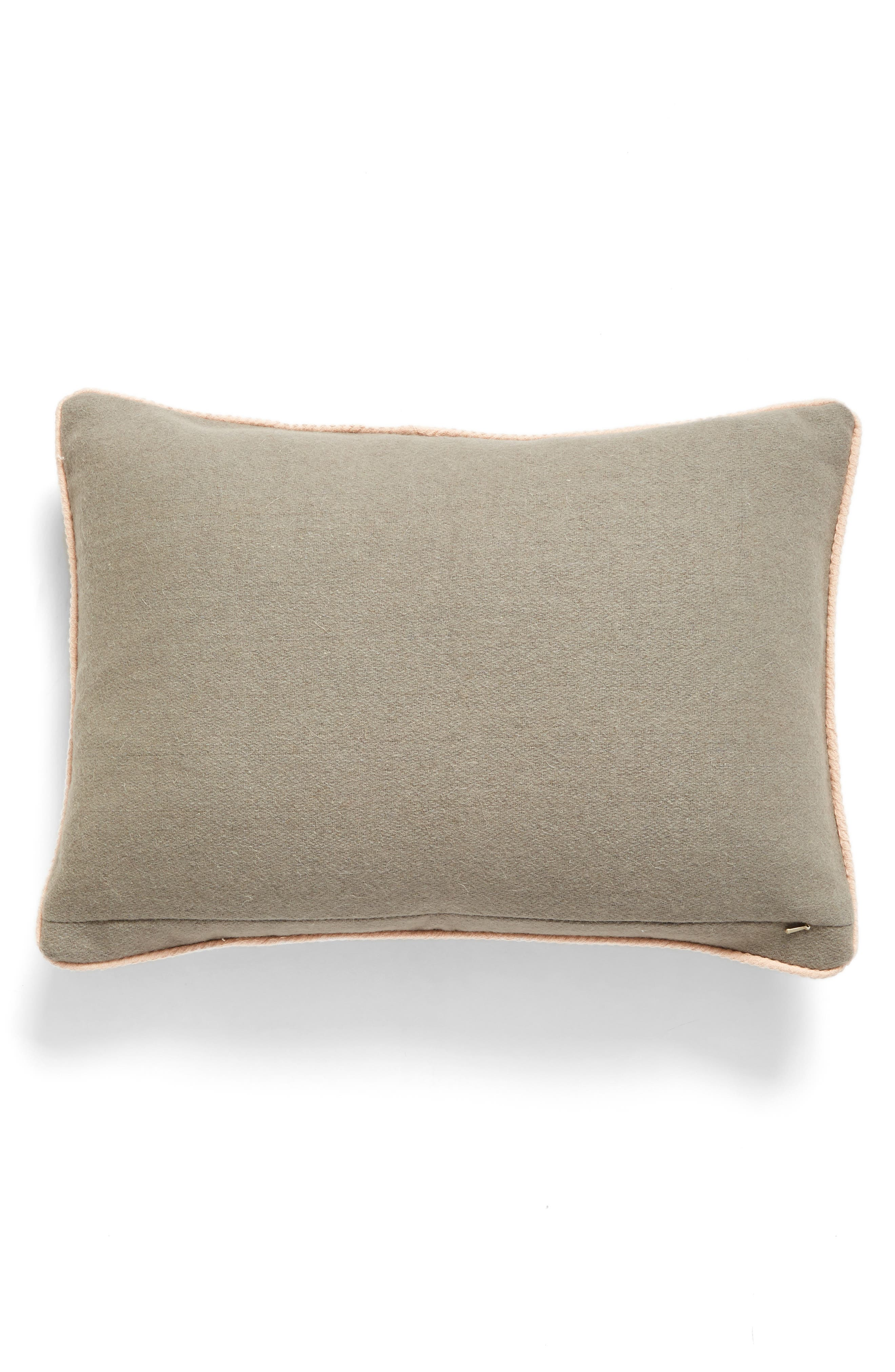 XOXO Accent Pillow,                             Alternate thumbnail 2, color,                             Grey Heather Multi