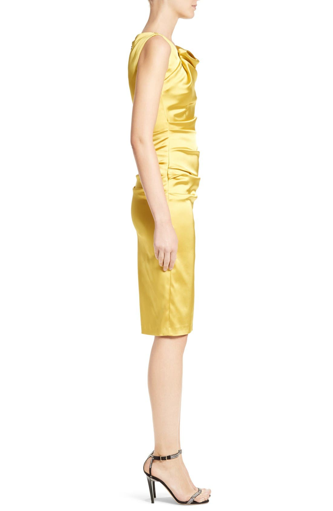 Alternate Image 3  - Talbot Runhof Stretch Satin Sheath Dress