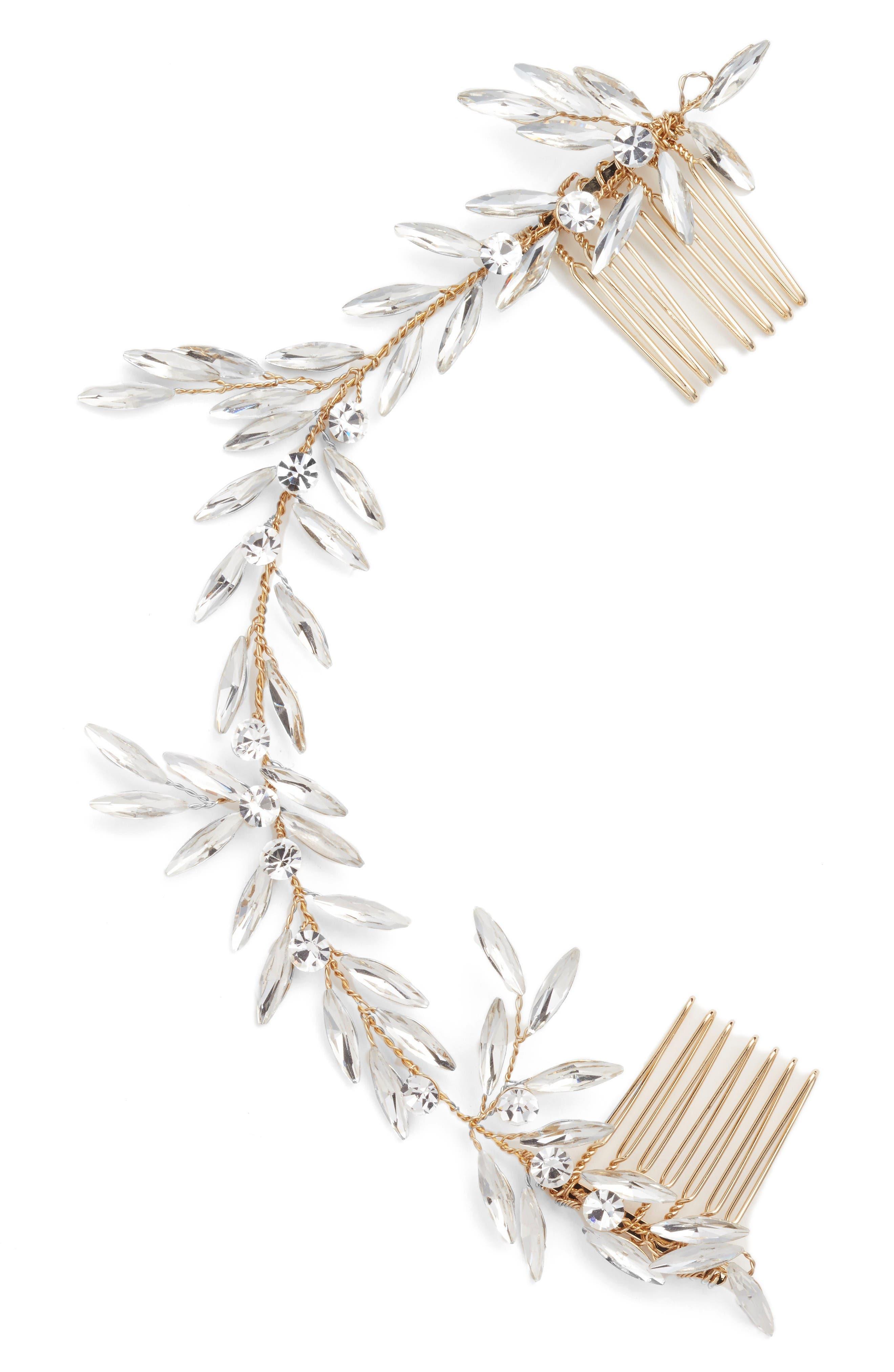Alternate Image 2  - Brides & Hairpins Blanca Crystal Headpiece