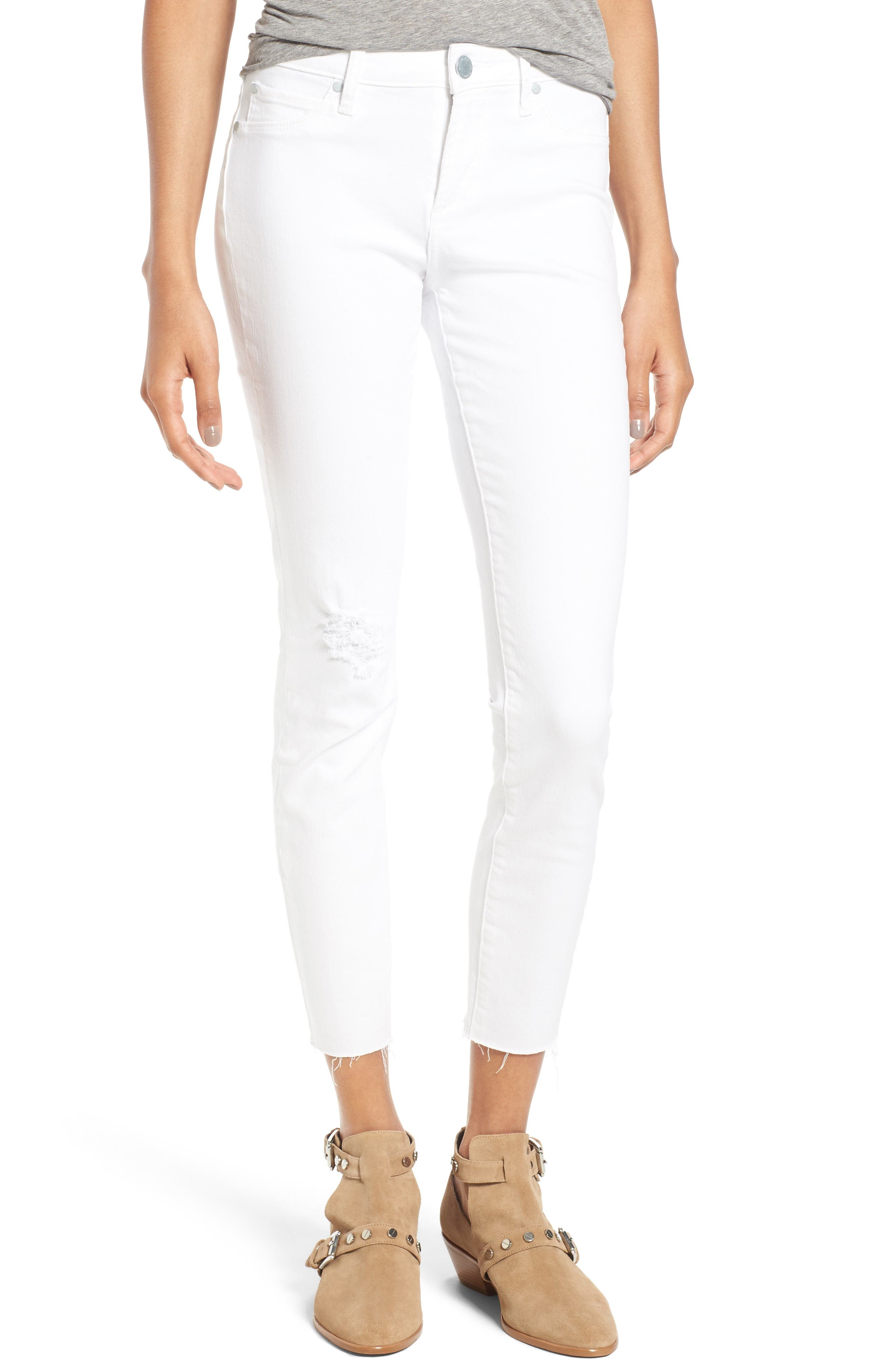 Carly Skinny Crop Jeans,                         Main,                         color, Whiteout