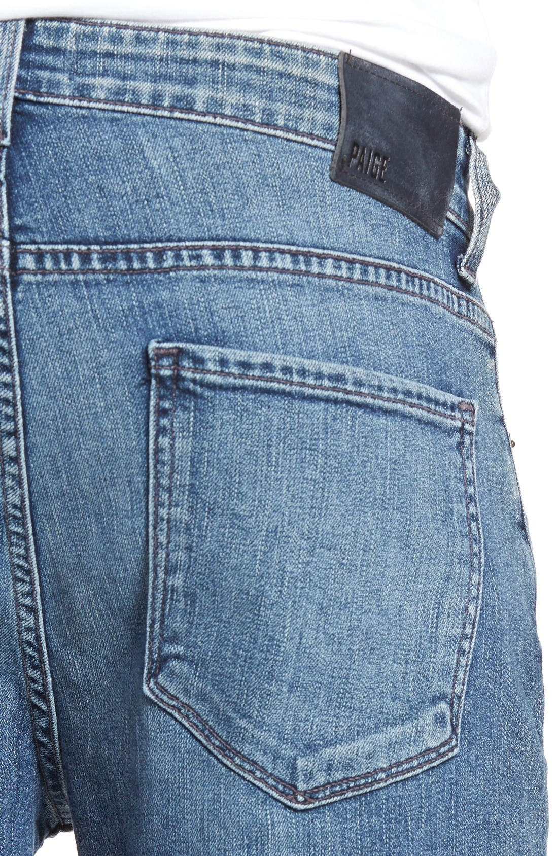 Alternate Image 4  - PAIGE Normandie Straight Leg Jeans (Gibbs)