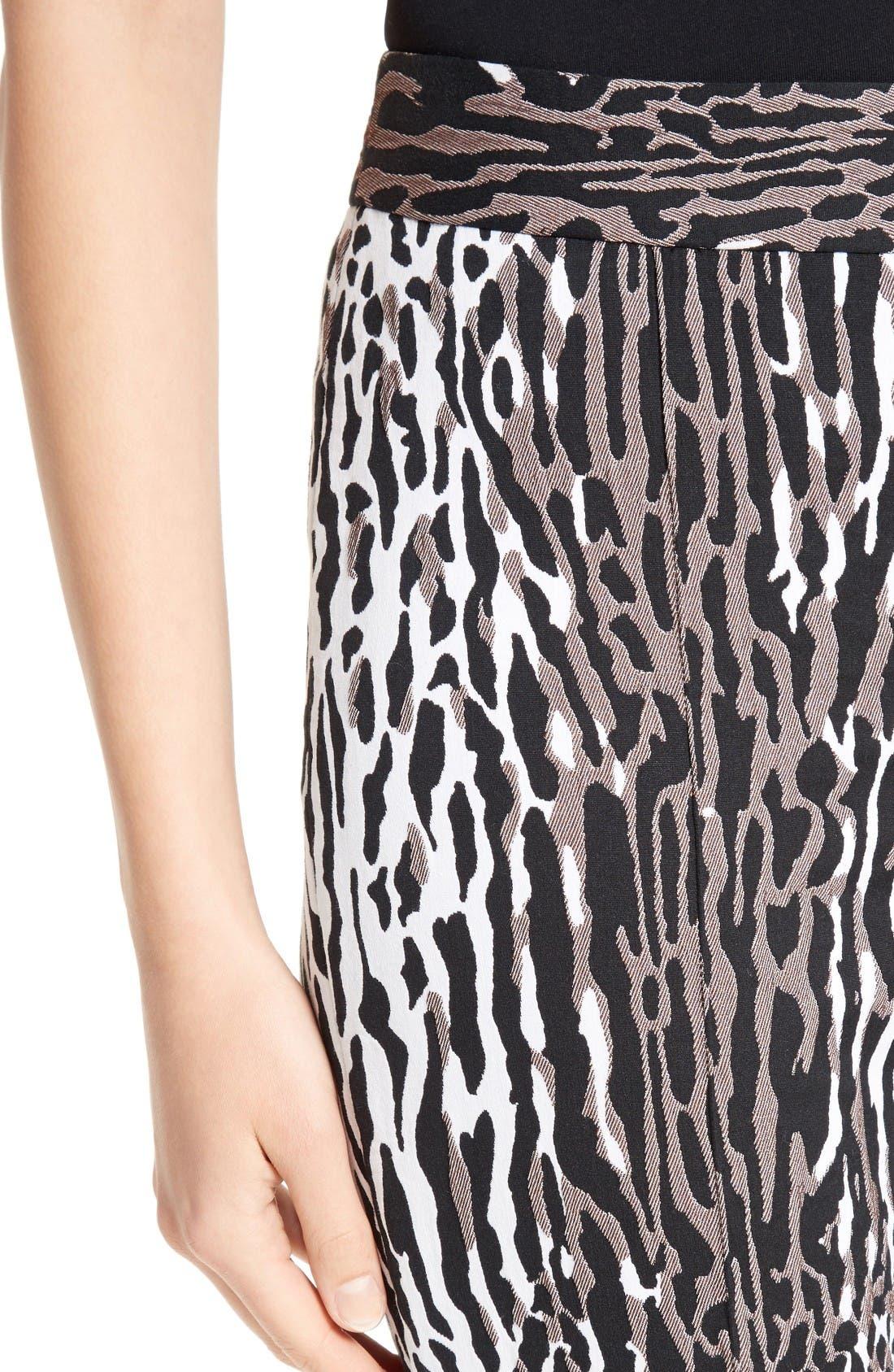 Alternate Image 5  - St. John Collection Leopard Jacquard Ankle Pants