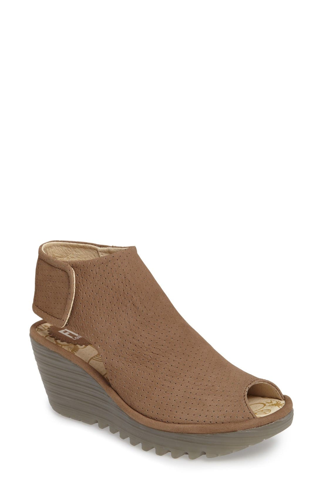 Main Image - Fly London Yahl Open Toe Platform Wedge (Women)