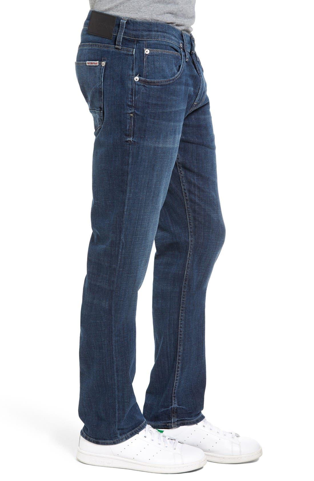 Alternate Image 3  - Hudson Jeans Byron Slim Straight Leg Jean (Harris)