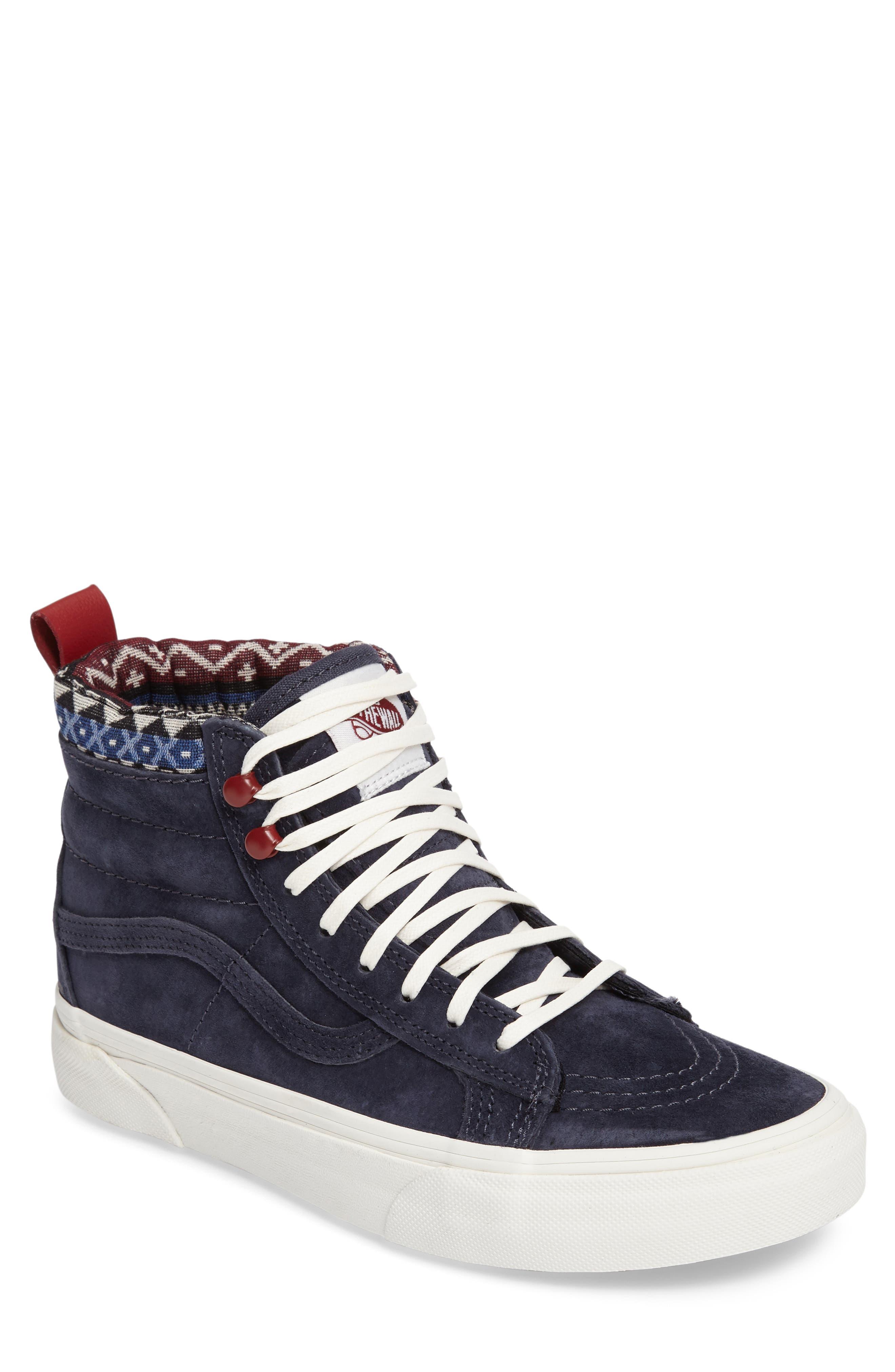 Sk-8 Hi MTE Sneaker,                             Main thumbnail 1, color,                             Parisian Night/ Blue Suede