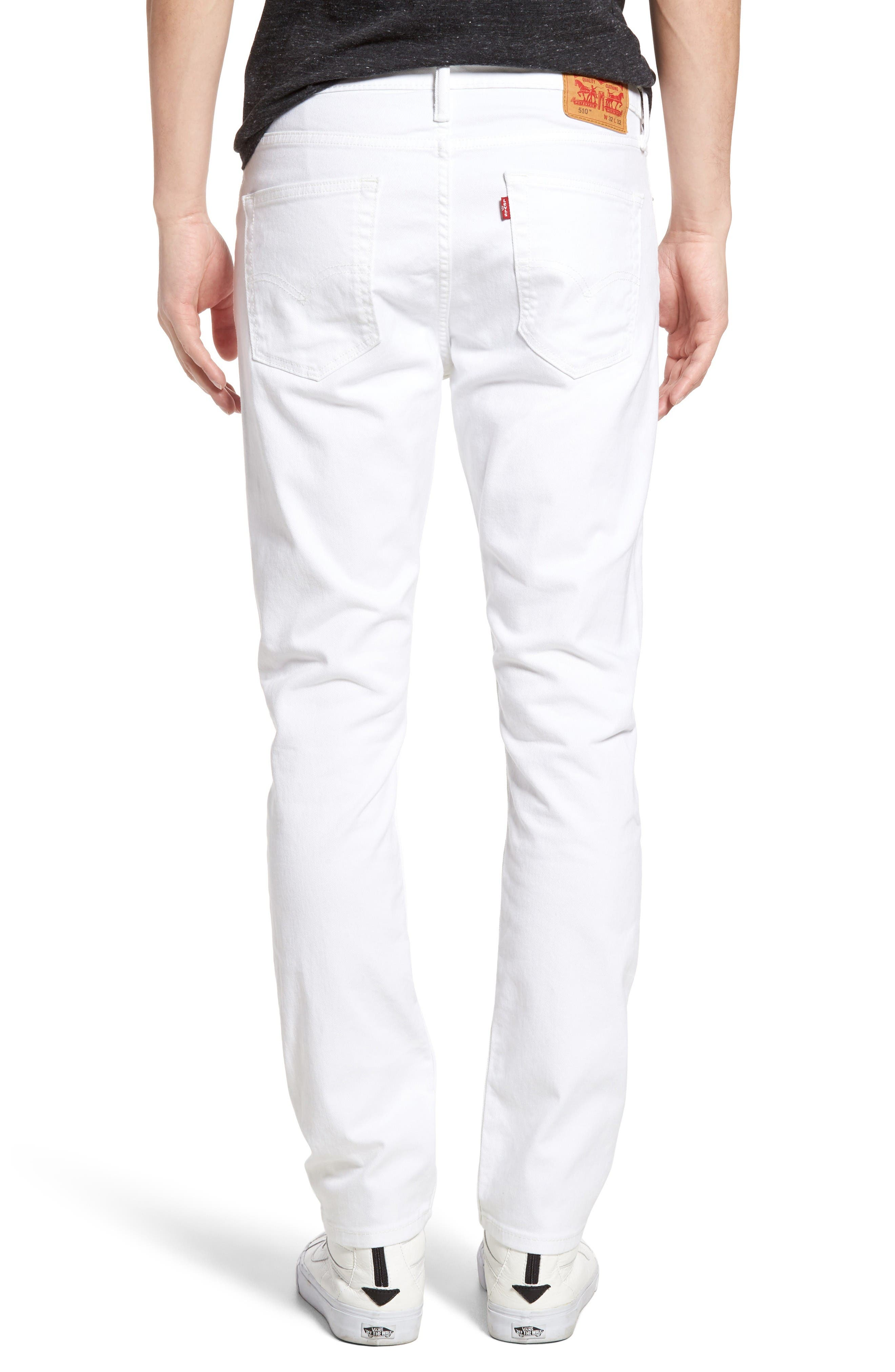 510<sup>®</sup> Skinny Fit Jeans,                             Alternate thumbnail 2, color,                             White Bull Denim