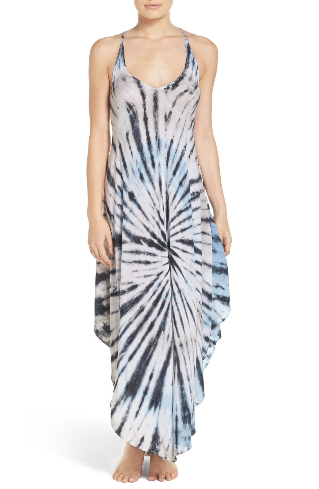 Tie Dye Cover-Up Dress,                         Main,                         color, Blue/ Natural