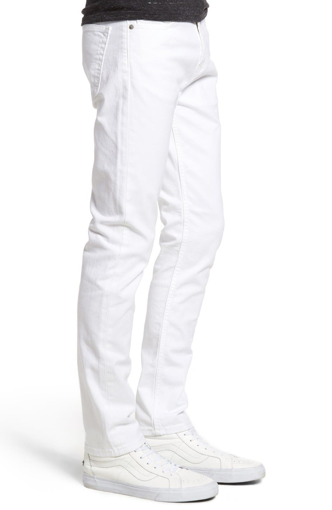 510<sup>®</sup> Skinny Fit Jeans,                             Alternate thumbnail 3, color,                             White Bull Denim