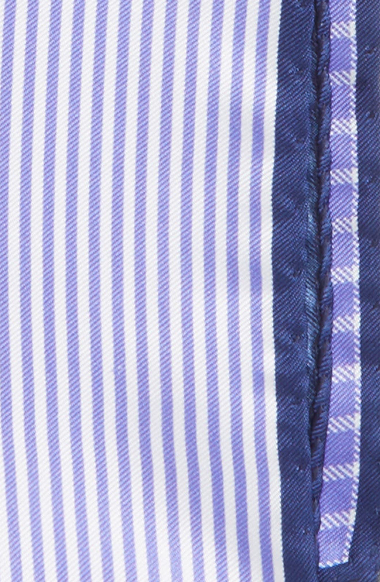 Alternate Image 2  - Nordstrom Men's Shop Panel Silk Pocket Square