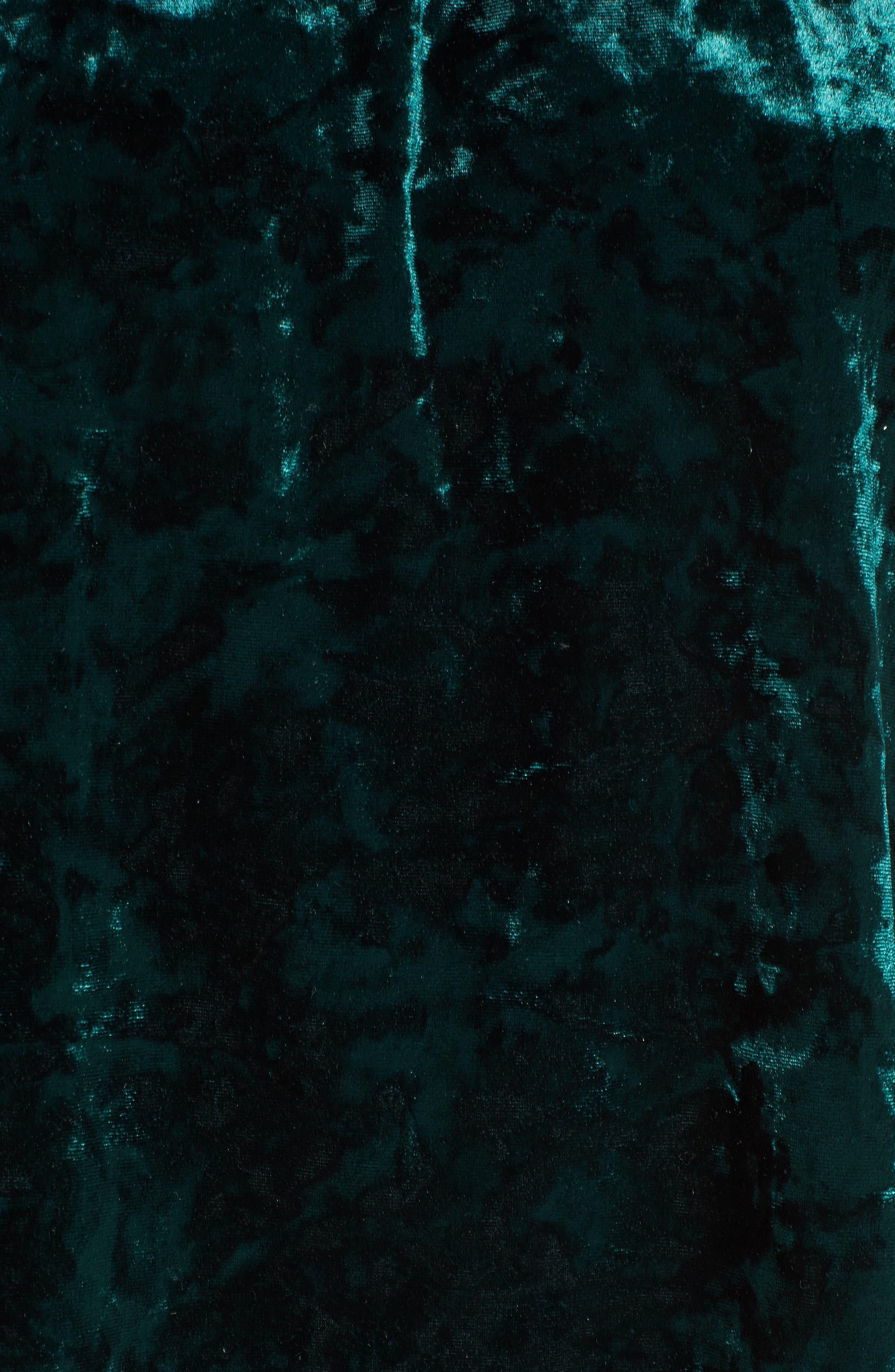 Alternate Image 5  - Socialite Off the Shoulder Crushed Velvet Top
