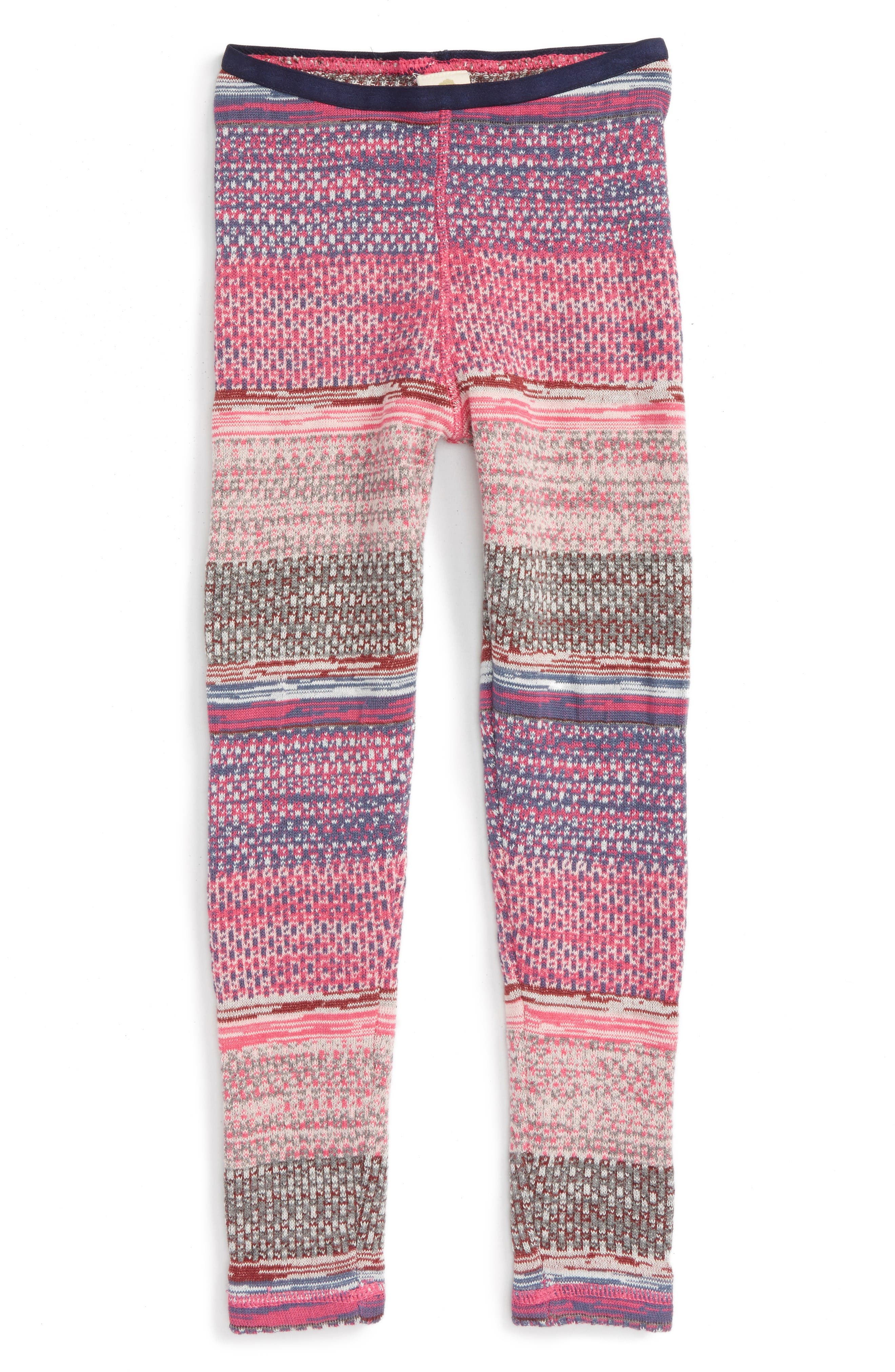 Pattern Knit Leggings,                         Main,                         color, Pink Magenta Spacedye