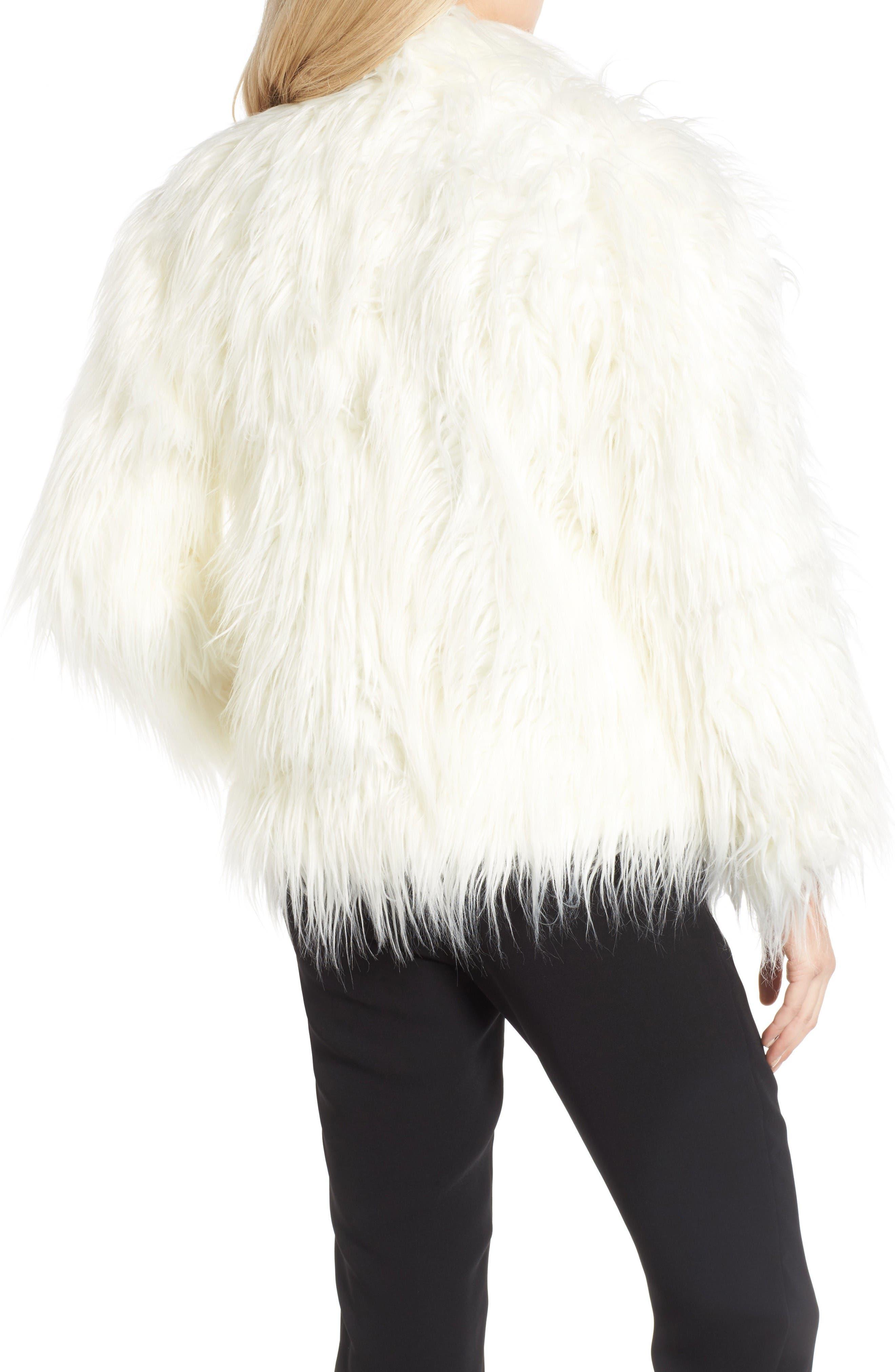Alternate Image 2  - Olivia Palermo + Chelsea28 Open Front Faux Fur Jacket