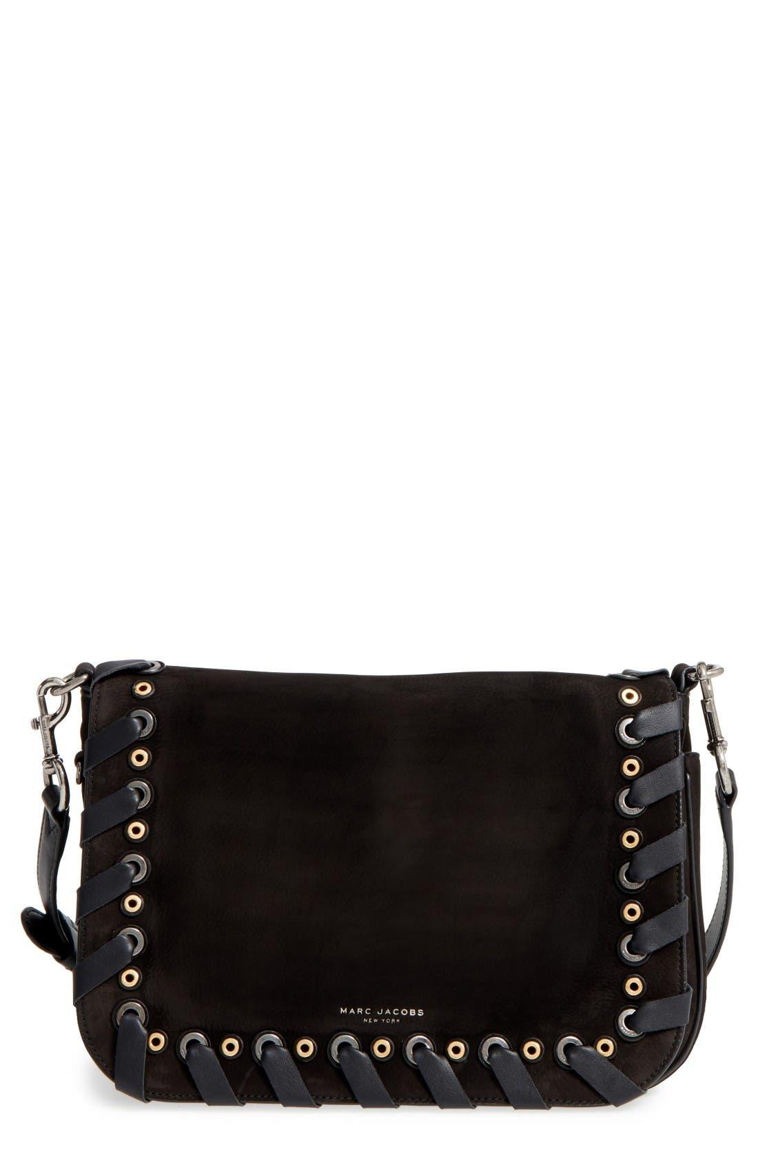 Alternate Image 1 Selected - MARC JACOBS Courier Nubuck Leather Shoulder Bag