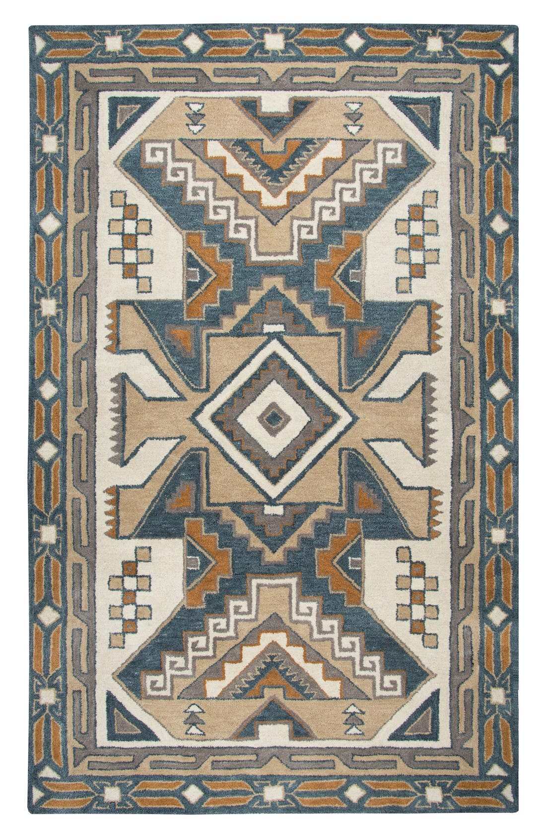 Urban Tiles Hand Tufted Wool Rug,                         Main,                         color, Beige/ Multi