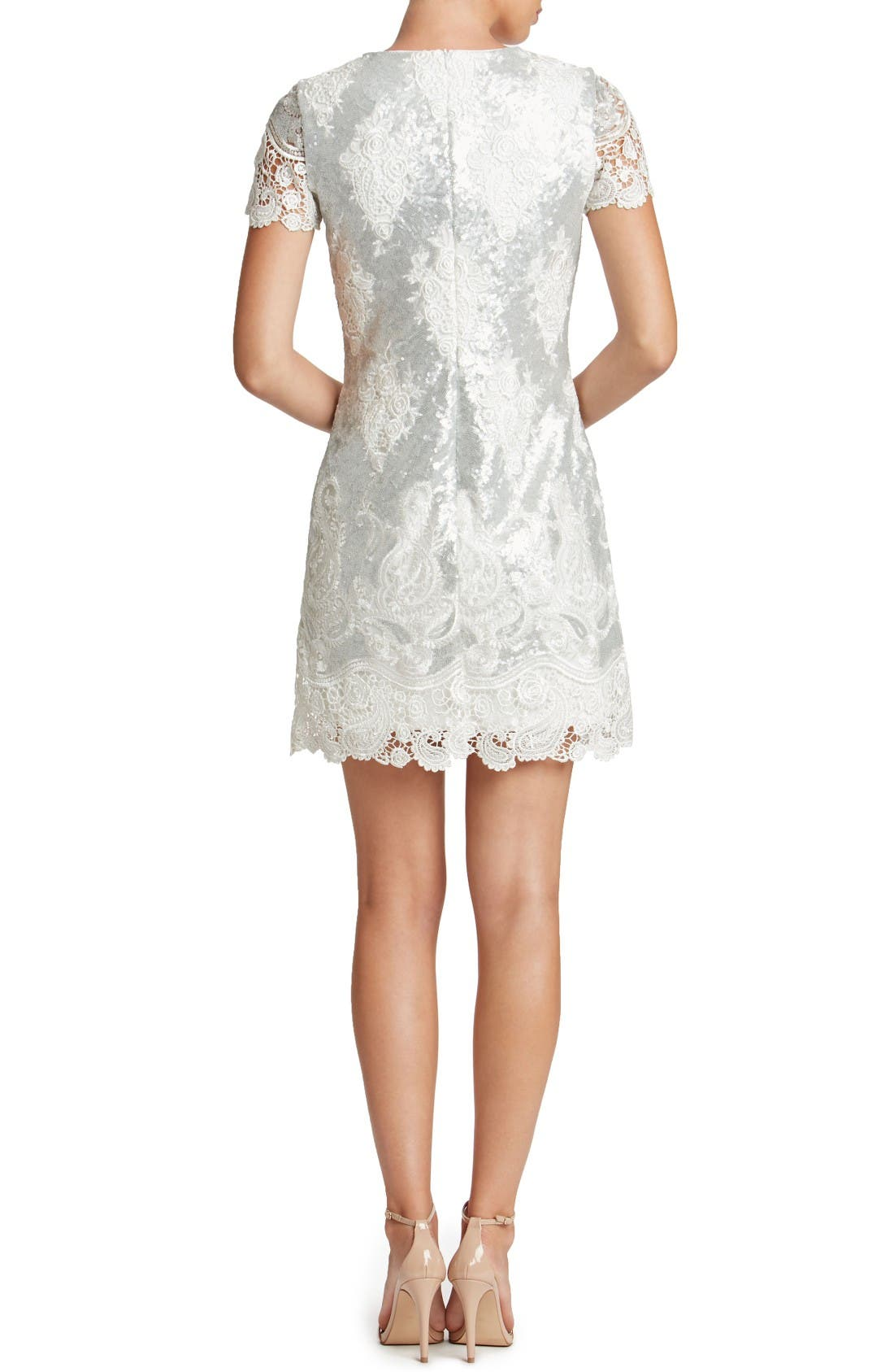 Alternate Image 3  - Dress the Population Joy Sequin Lace Minidress