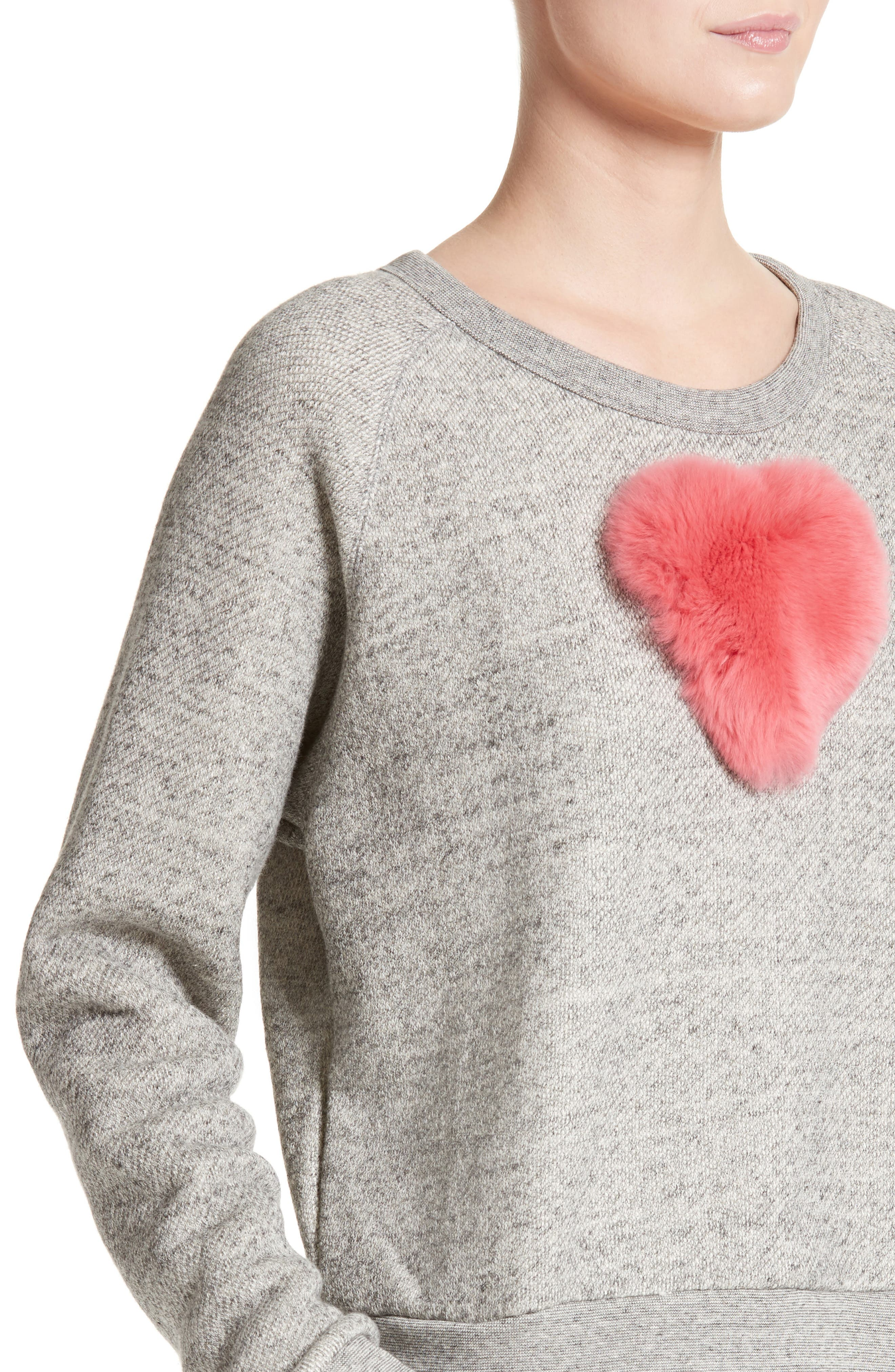 One Heart Pullover,                             Alternate thumbnail 6, color,                             Charcoal/Red