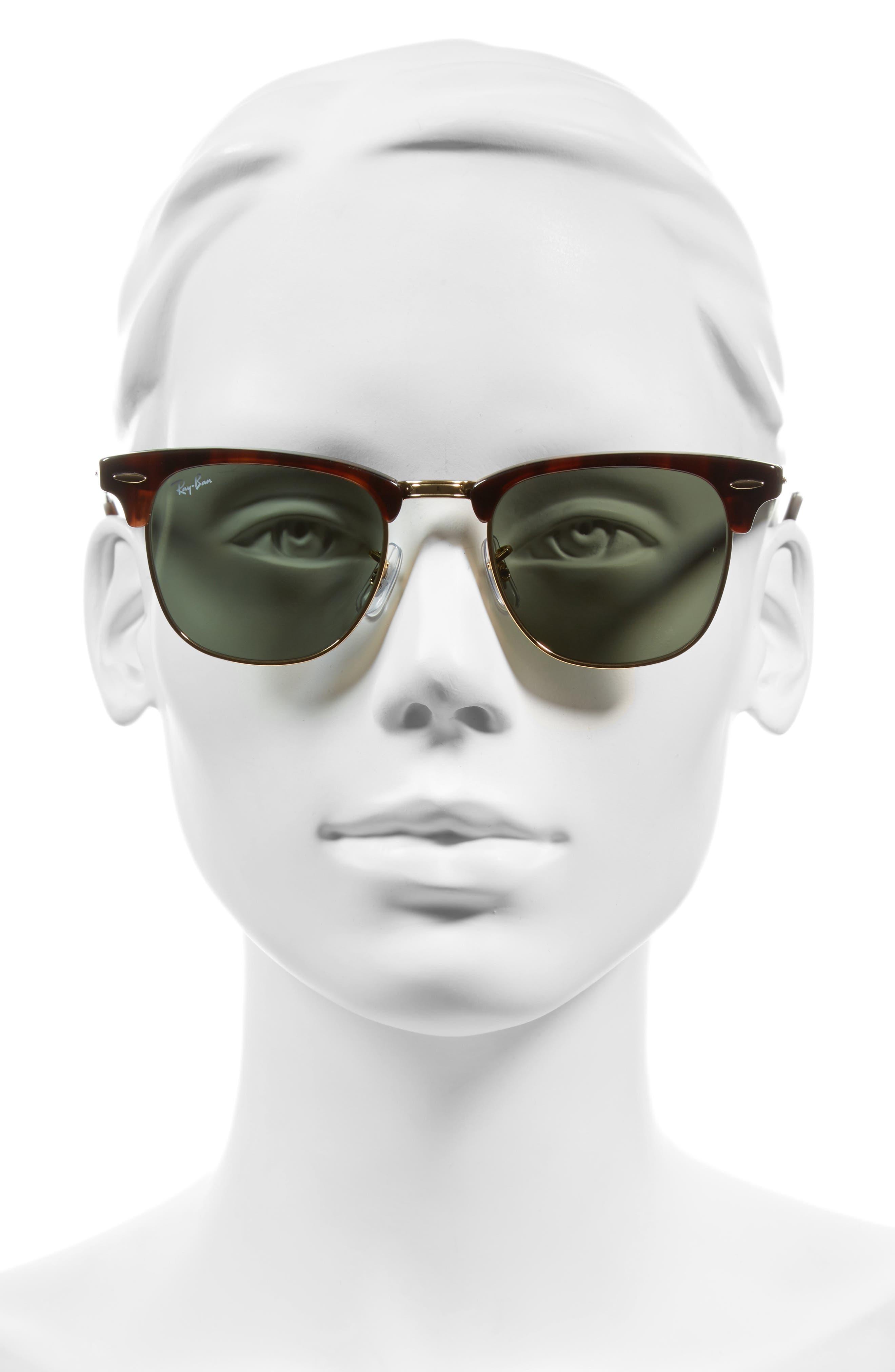 'Clubmaster' 49mm Sunglasses,                             Alternate thumbnail 2, color,                             Tortoise/ Gold