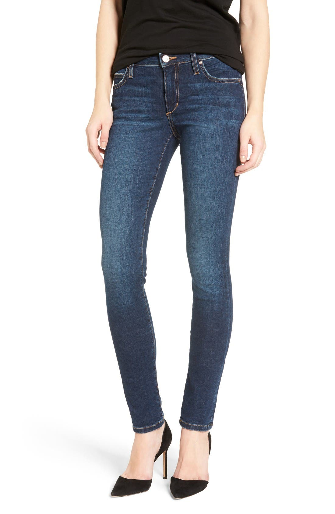Flawless - Honey Curvy Skinny Jeans,                             Main thumbnail 1, color,                             Tania