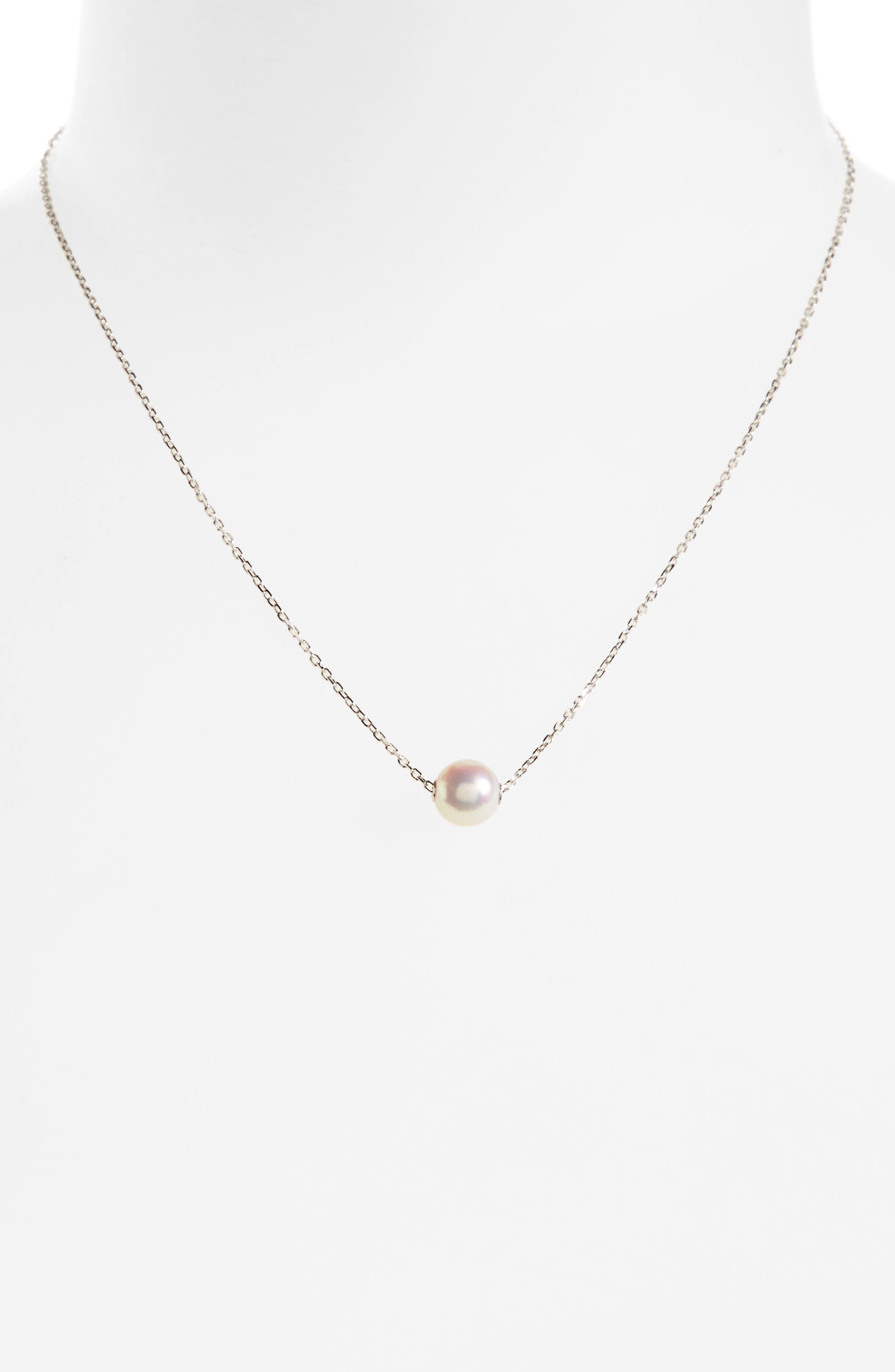 Main Image - Mikimoto Single Pearl Pendant Necklace