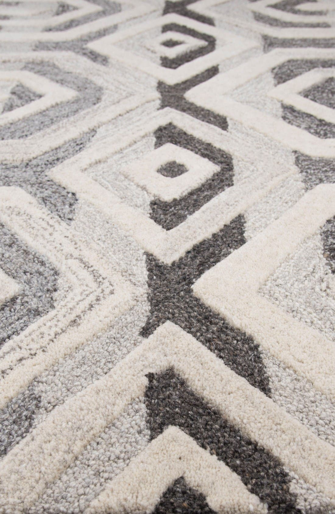 Alternate Image 4  - Rizzy Home Urban Octagon Hand Tufted Wool Area Rug