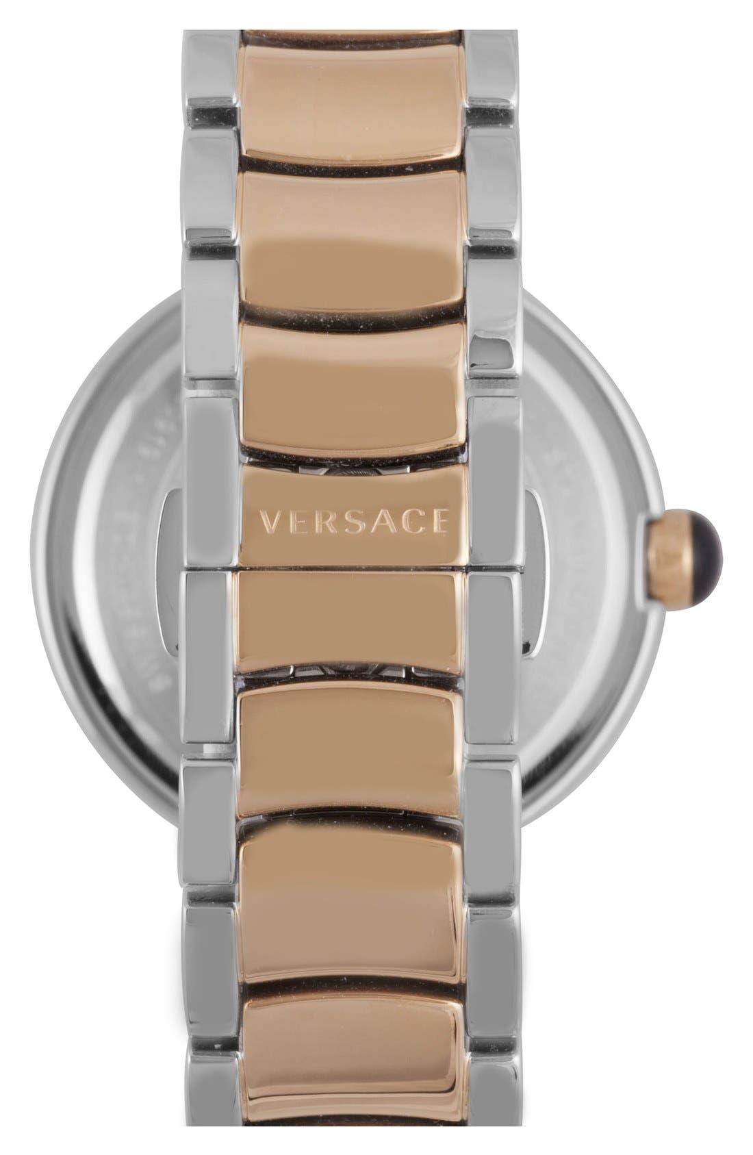 Alternate Image 2  - Versace 'Leda' Guilloche Dial Bracelet Watch, 38mm