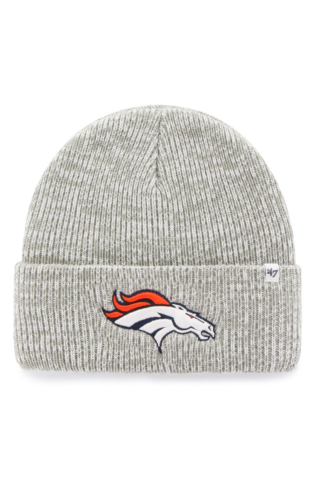 NFL Brainfreeze Knit Beanie,                             Main thumbnail 1, color,                             Broncos