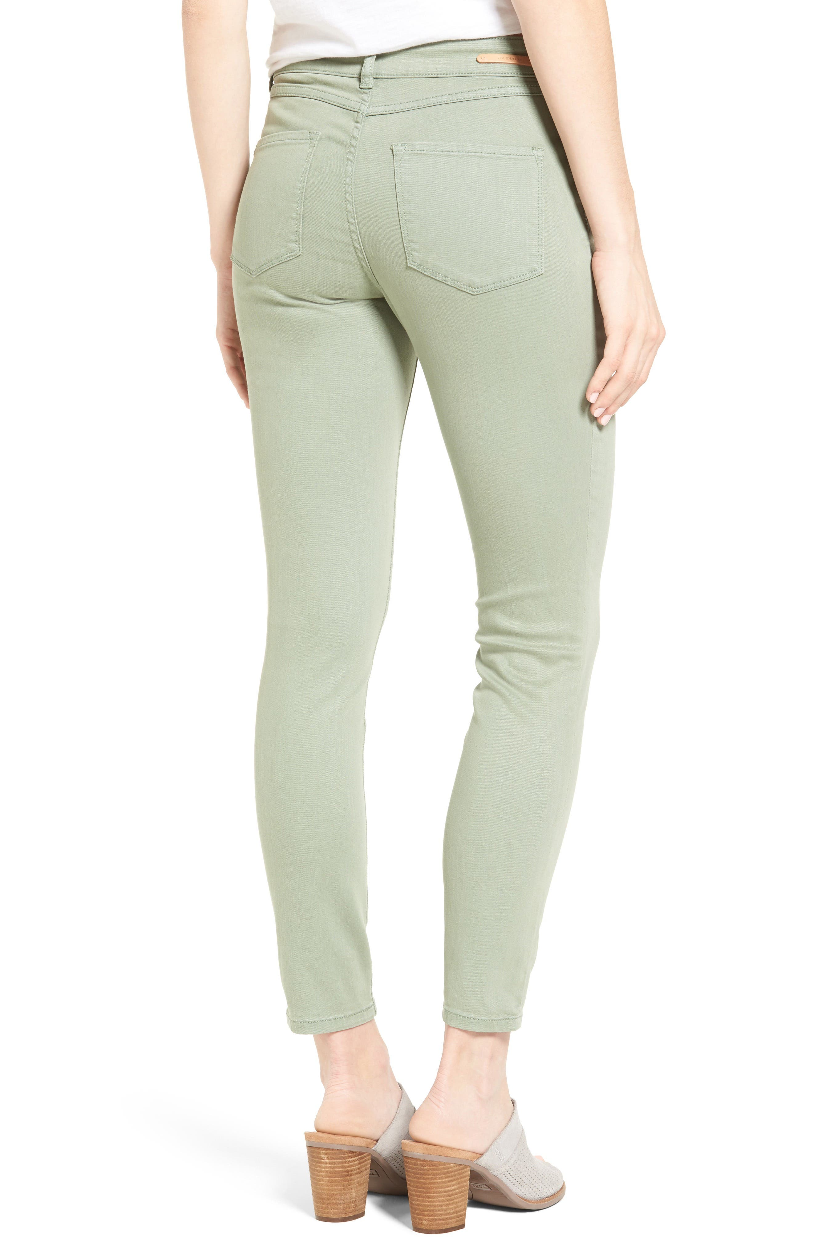 Alternate Image 2  - Caslon® Stretch Ankle Skinny Pants (Regular & Petite)