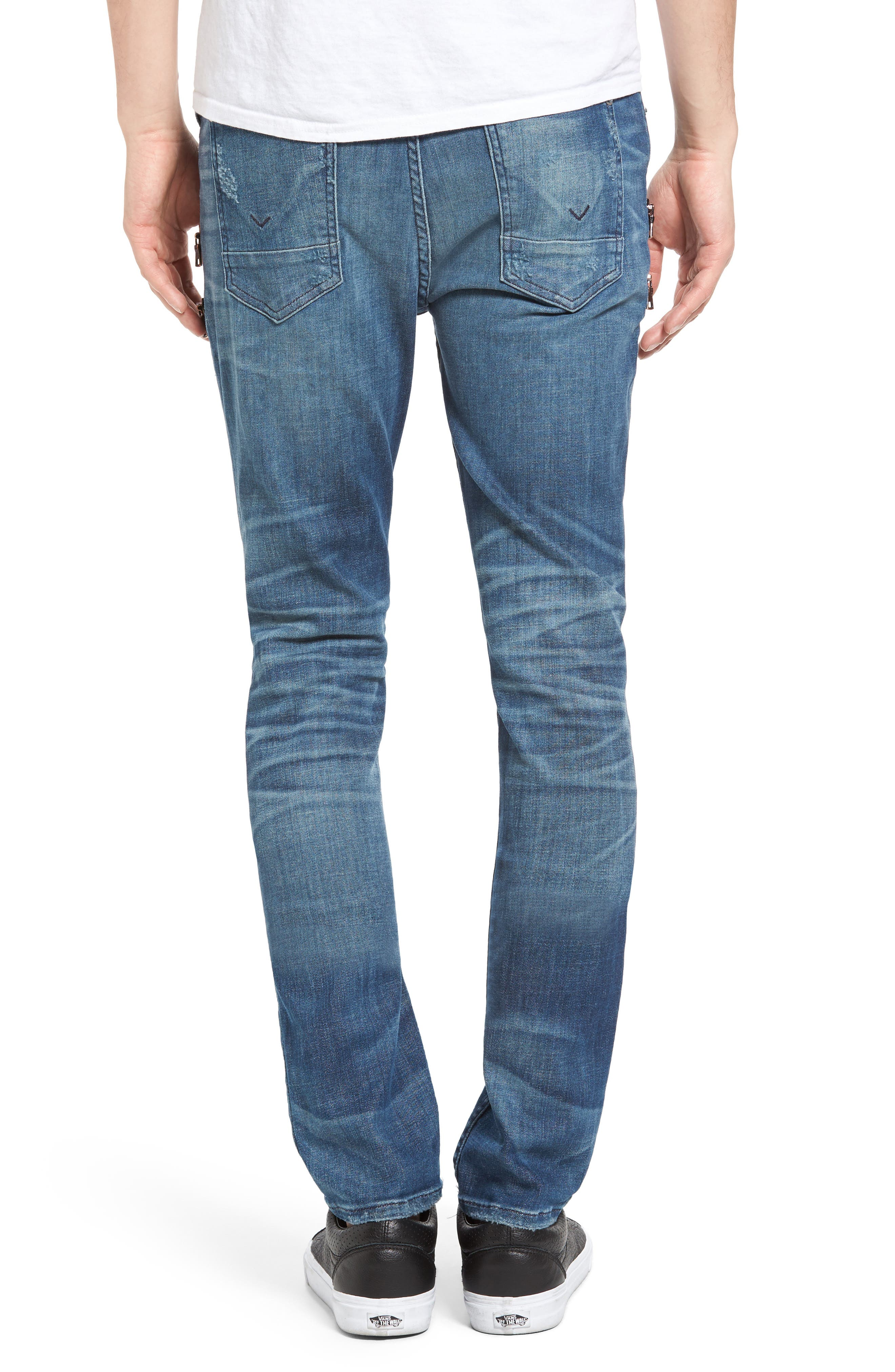 Broderick Biker Skinny Fit Jeans,                             Alternate thumbnail 2, color,                             Hayday 2