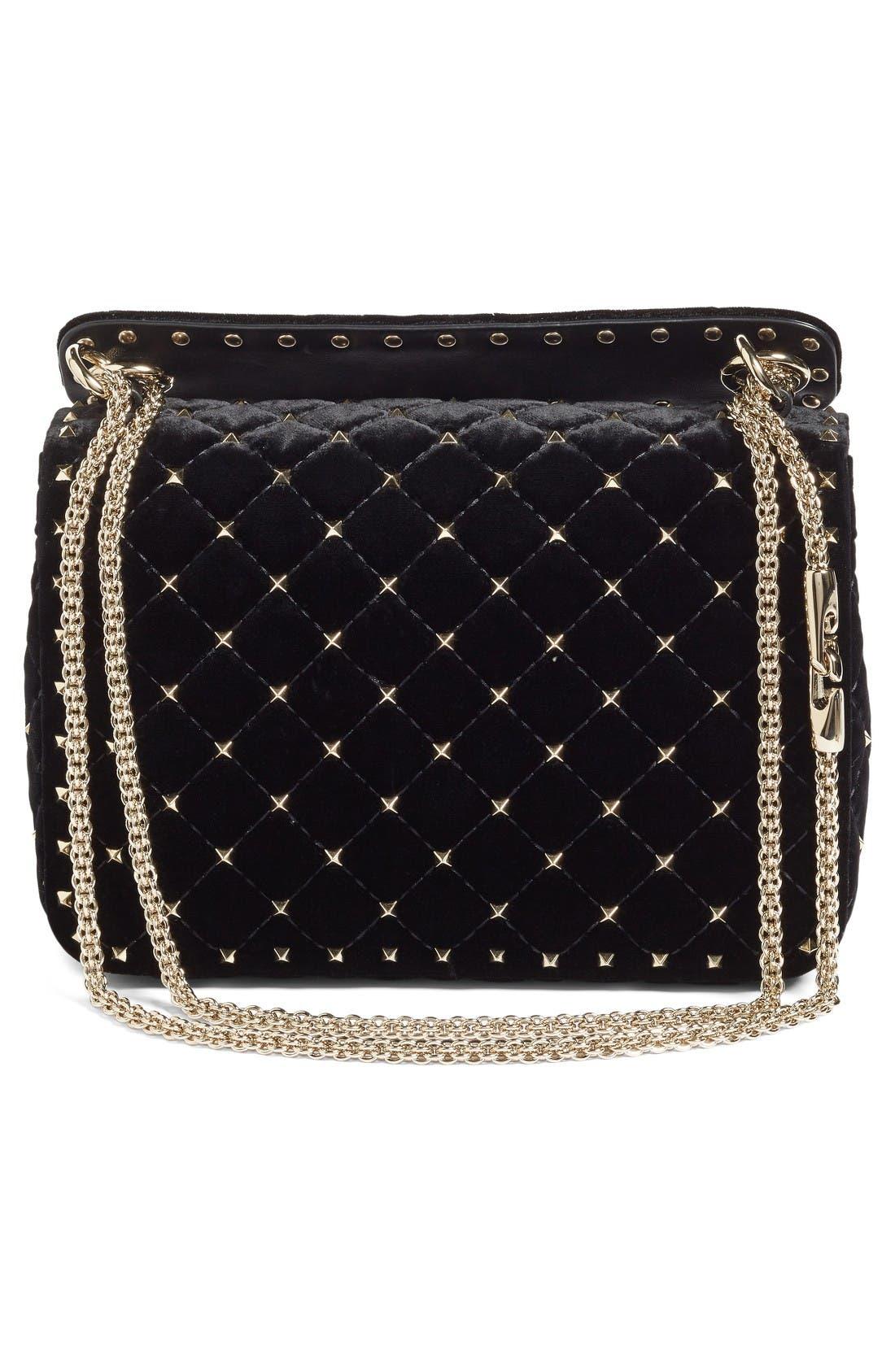 Alternate Image 3  - VALENTINO GARAVANI Rockstud Spike Velvet Shoulder Bag
