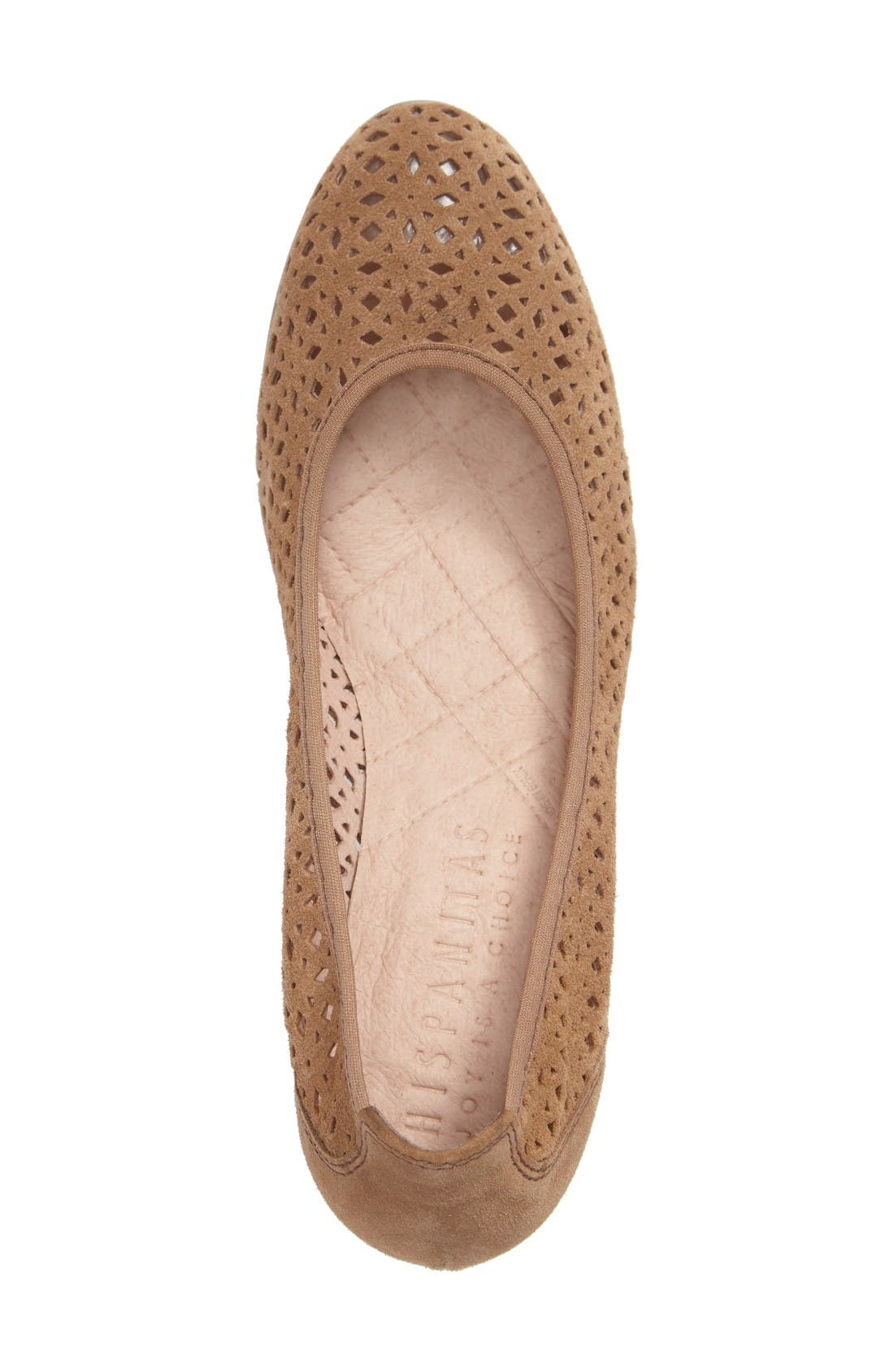 Jovanna Perforated Pump,                             Alternate thumbnail 3, color,                             Velour Avena Leather