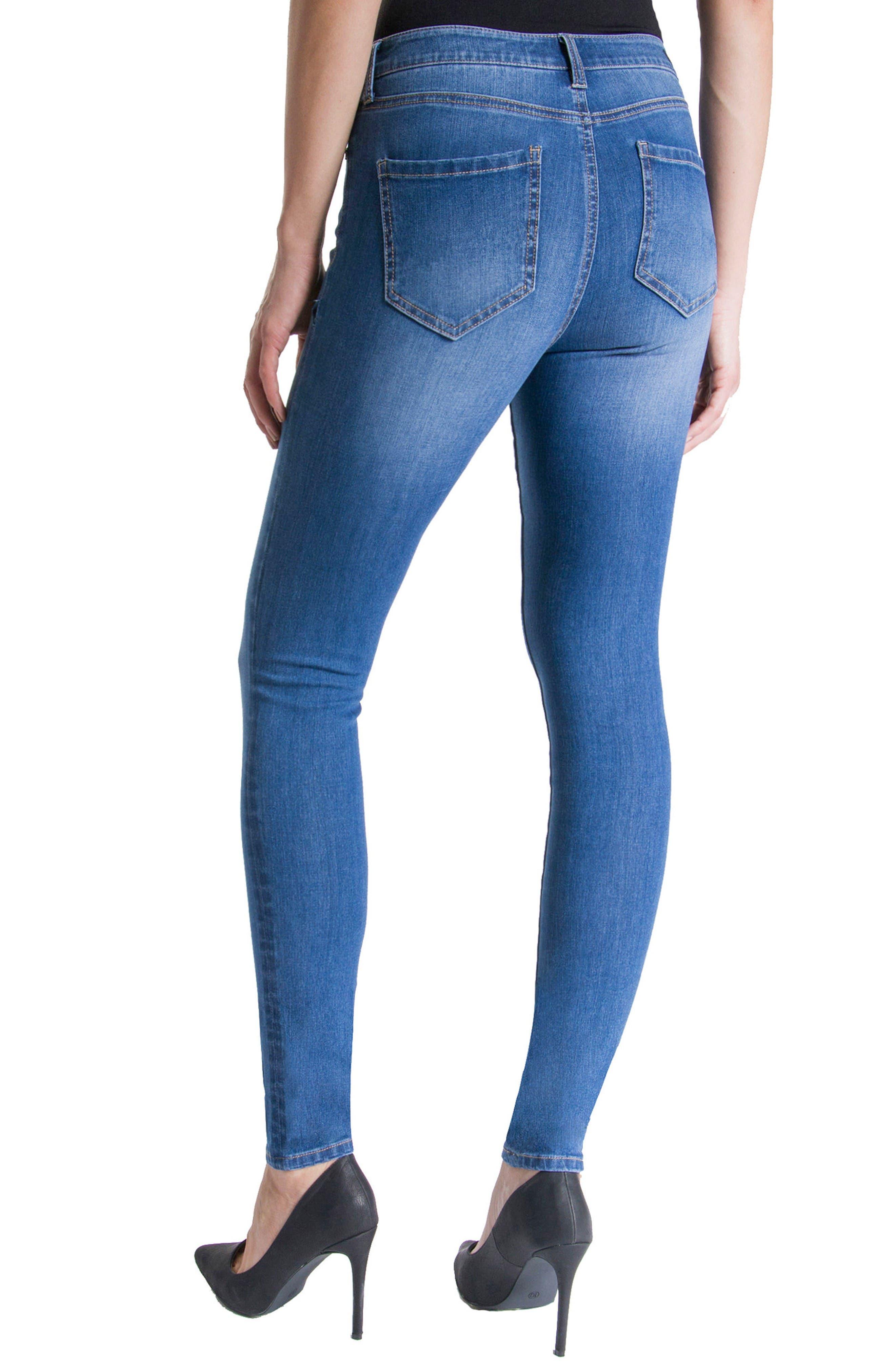 Abby Stretch Skinny Jeans,                             Alternate thumbnail 3, color,                             Hydra Stone