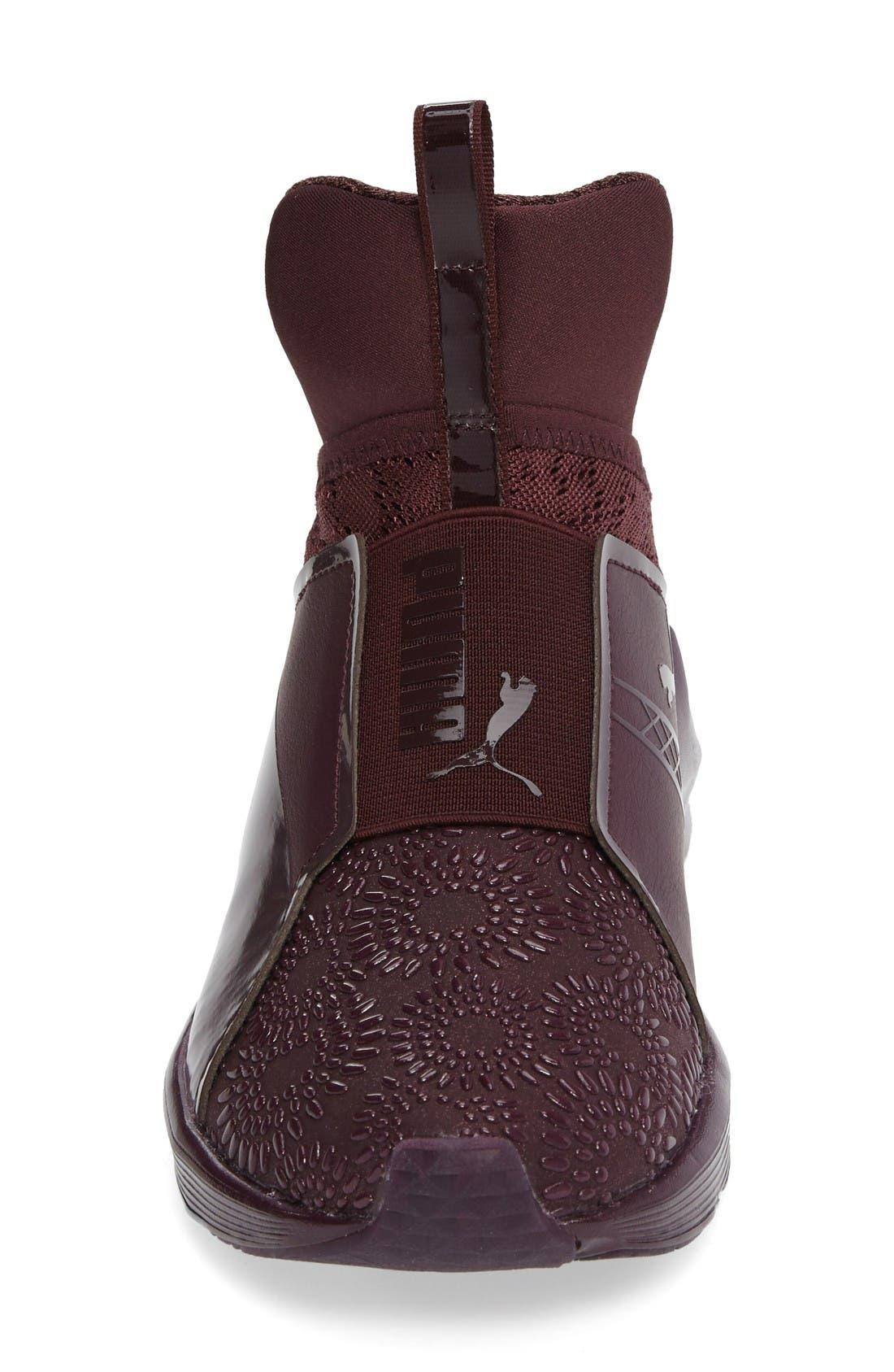 Fierce KRM High Top Sneaker,                             Alternate thumbnail 3, color,                             Red Plum