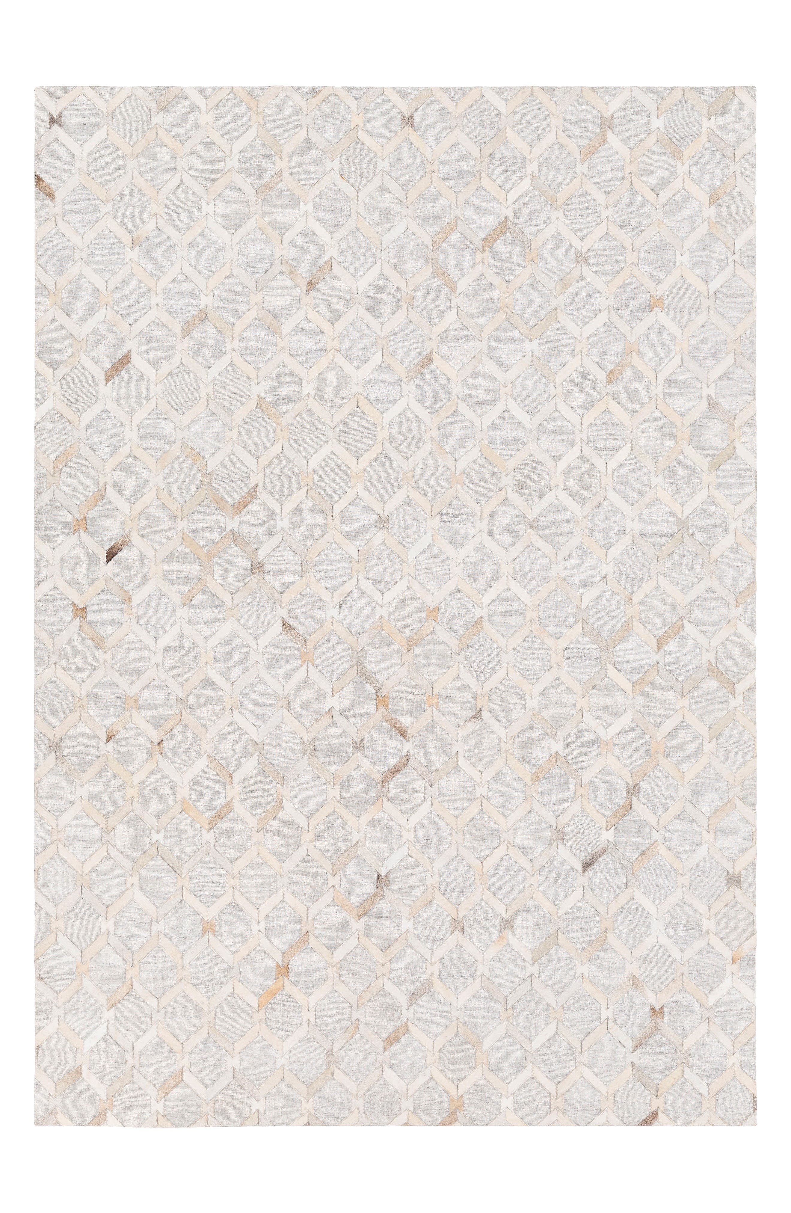 Medora Laura Hand Stitched Rug,                             Main thumbnail 1, color,                             Ivory