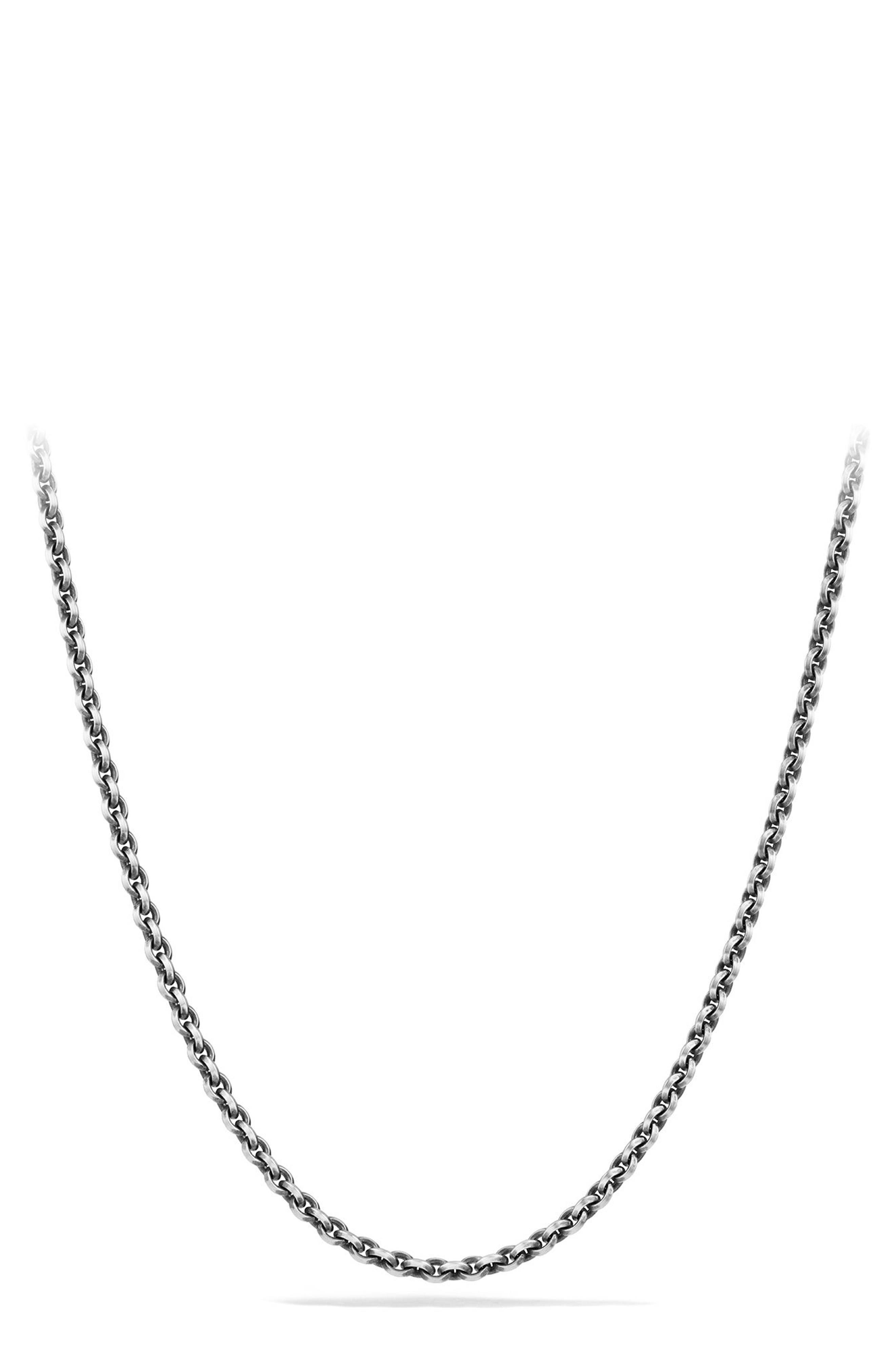 Knife Edge Chain Necklace,                         Main,                         color, Silver